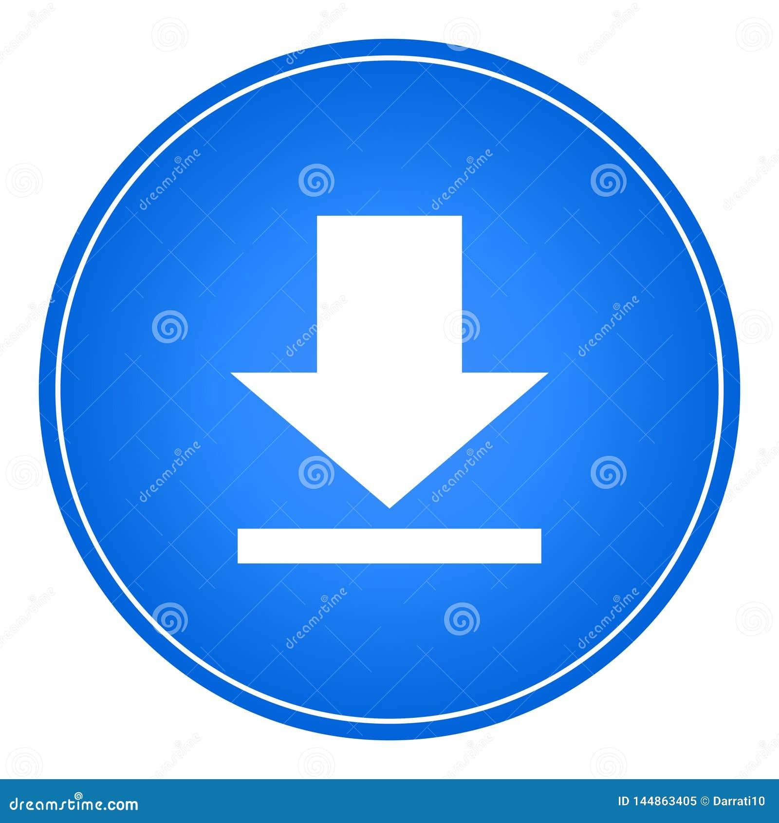 Vetor da Web do botão do ícone da transferência