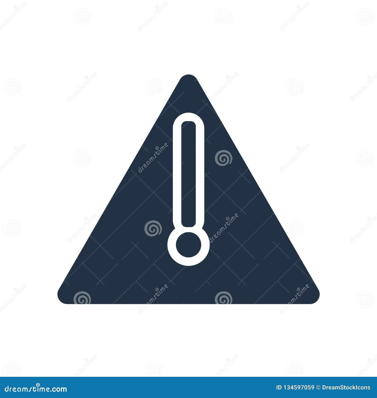Vetor de advertência do ícone isolado no fundo branco, sinal de aviso