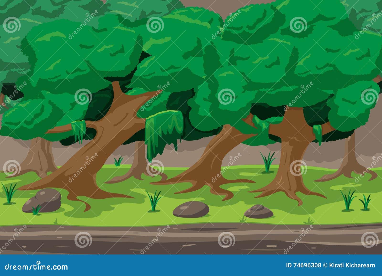 Vetor de Forest Cartoon Outdoor Background Design