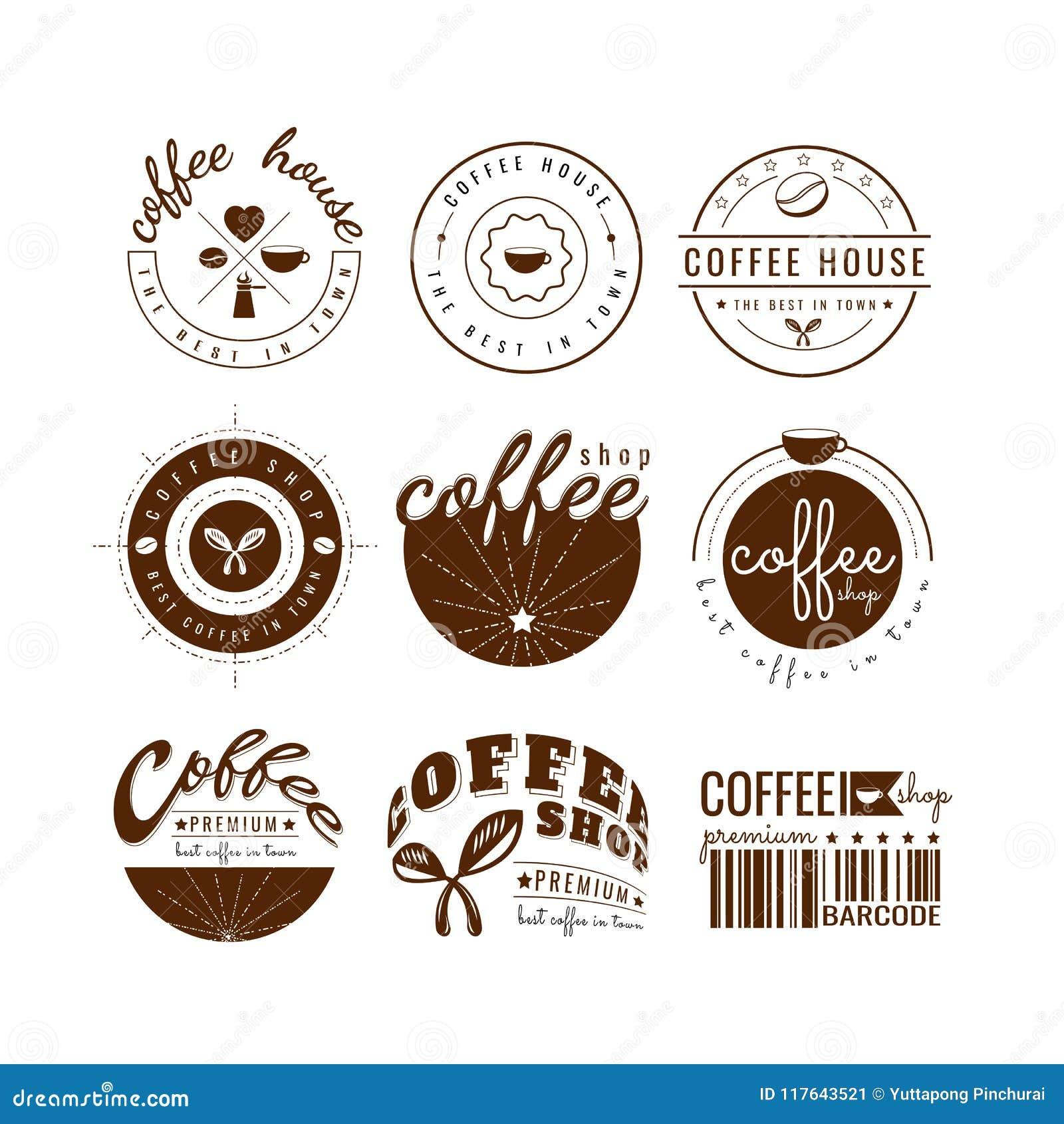 Vetor de Logo Template do copo de café No fundo branco Projeto do ícone