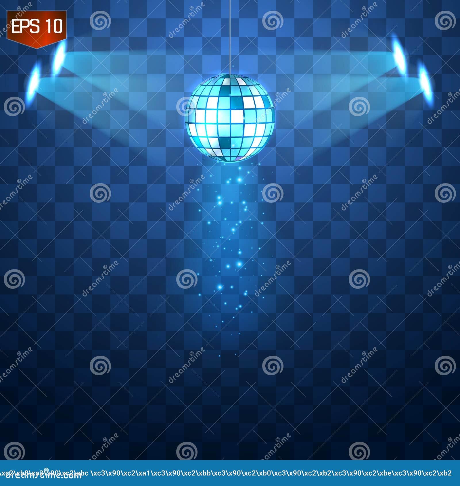 Vetor de prata retro da bola do disco, símbolo de brilho do clube de ter o divertimento, dança, DJ que mistura, partido nostálgic