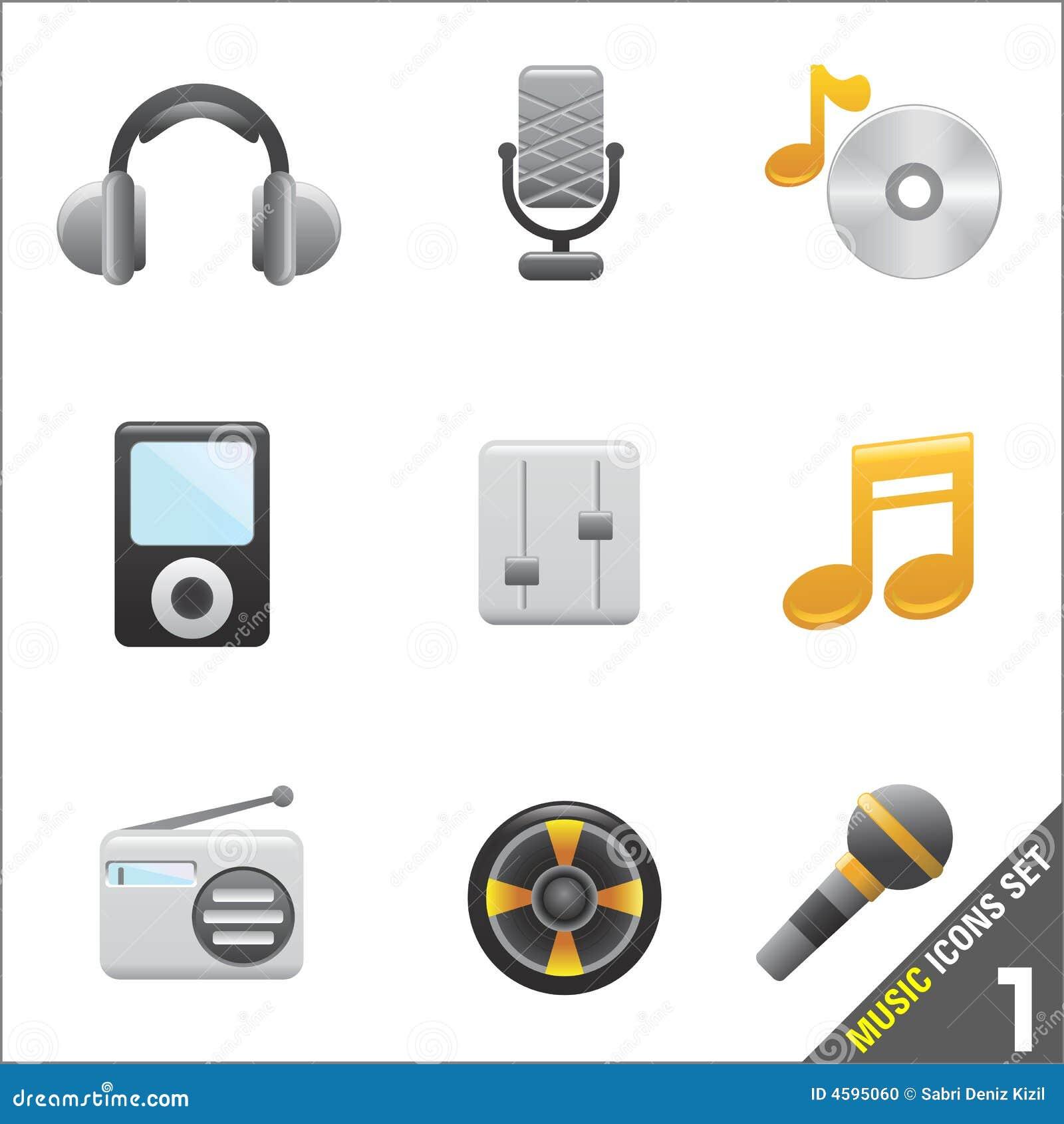 Vetor do ícone 1 da música