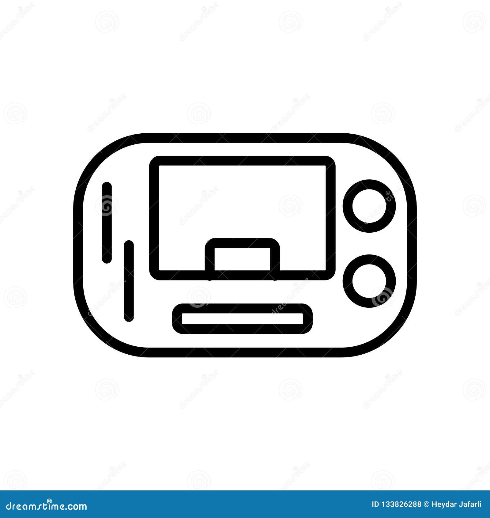 Vetor do ícone do console de PSP isolado no fundo branco, Consol de PSP