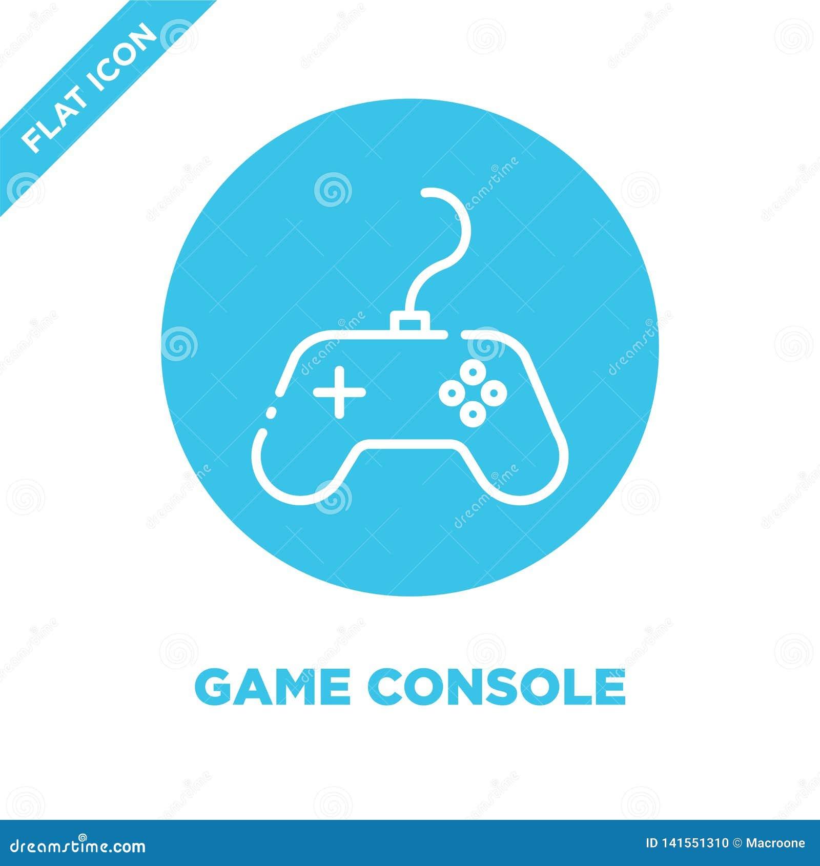 Vetor do ícone do console do jogo Linha fina ilustração do vetor do ícone do esboço do console do jogo símbolo do console do jogo
