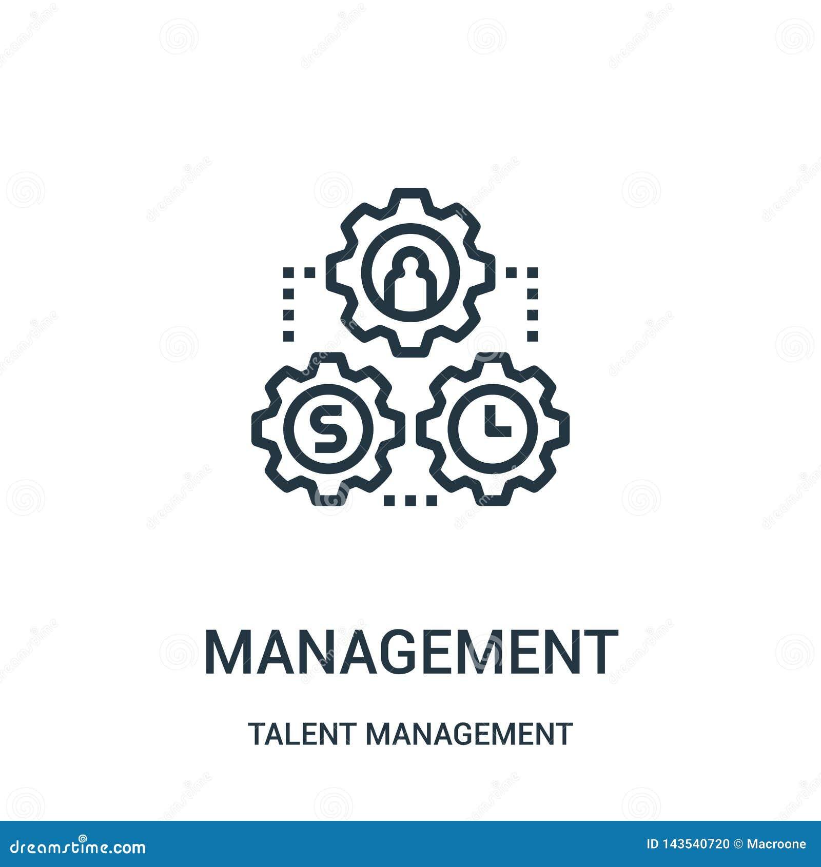 Vetor do ícone da gestão da coleção da gestão do talento Linha fina ilustra??o do vetor do ?cone do esbo?o da gest?o