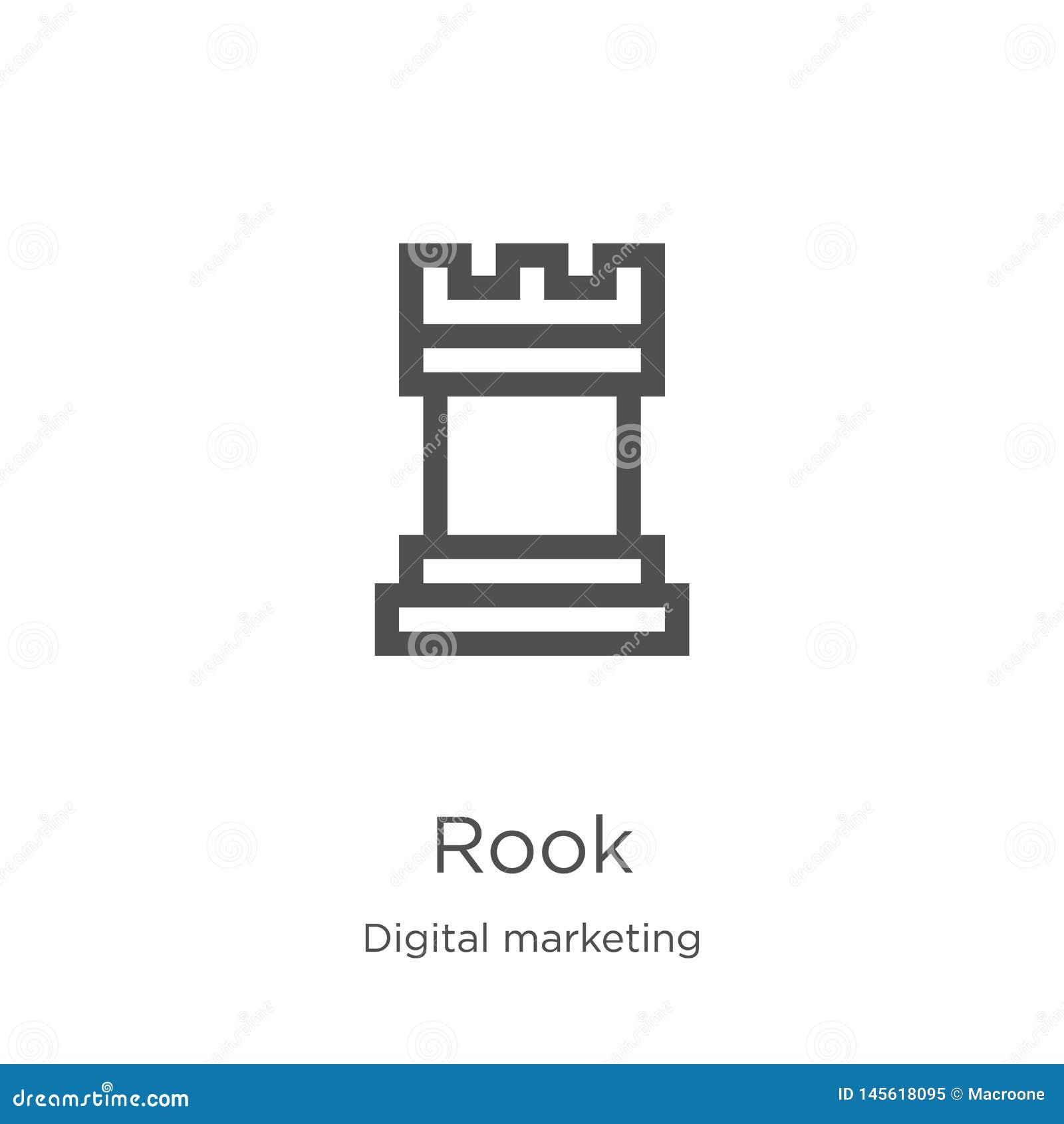 Vetor do ícone da gralha da coleção de mercado digital Linha fina ilustração do vetor do ícone do esboço da gralha Esboço, linha