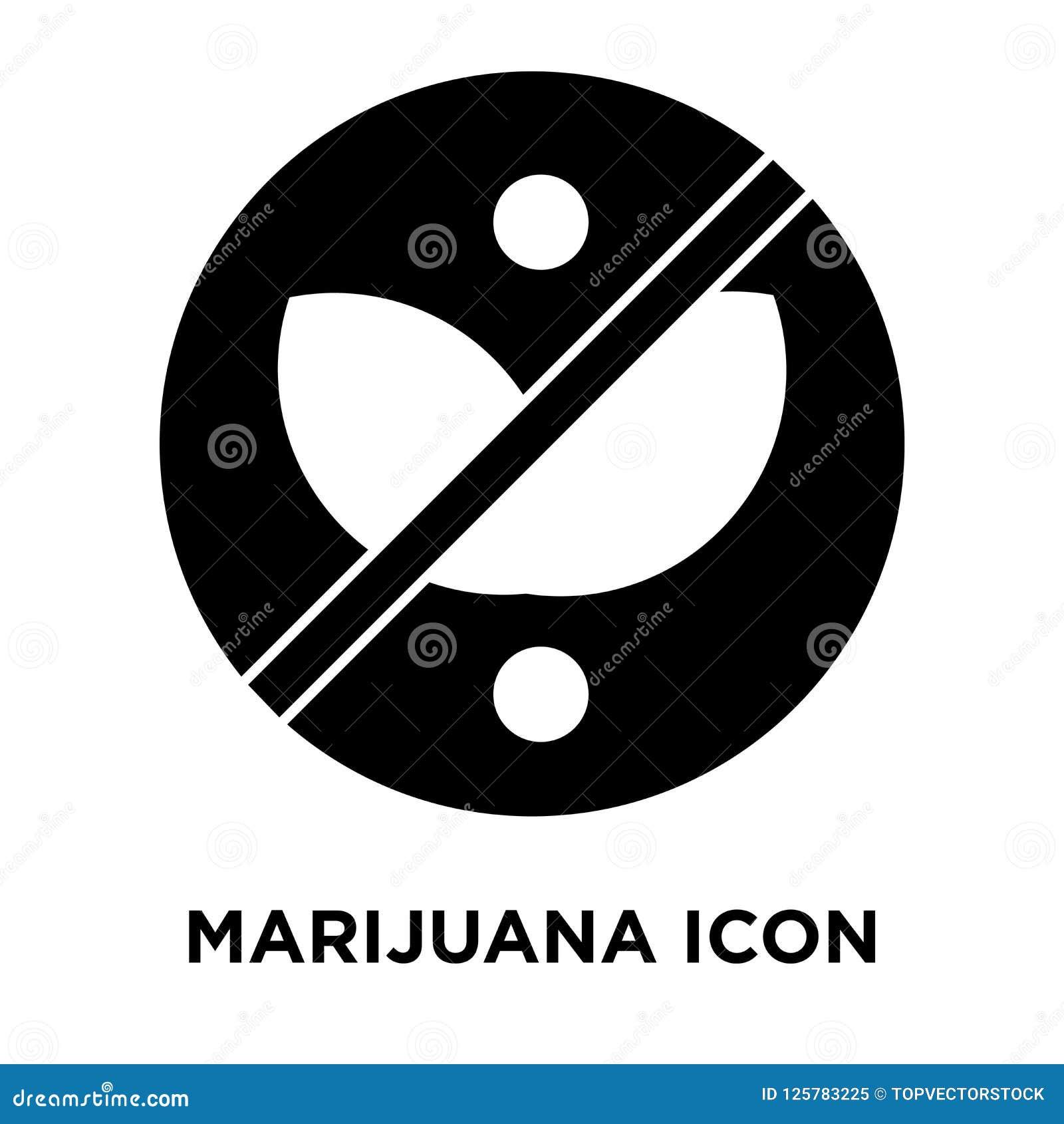 Vetor do ícone da marijuana isolado no fundo branco, conceito do logotipo