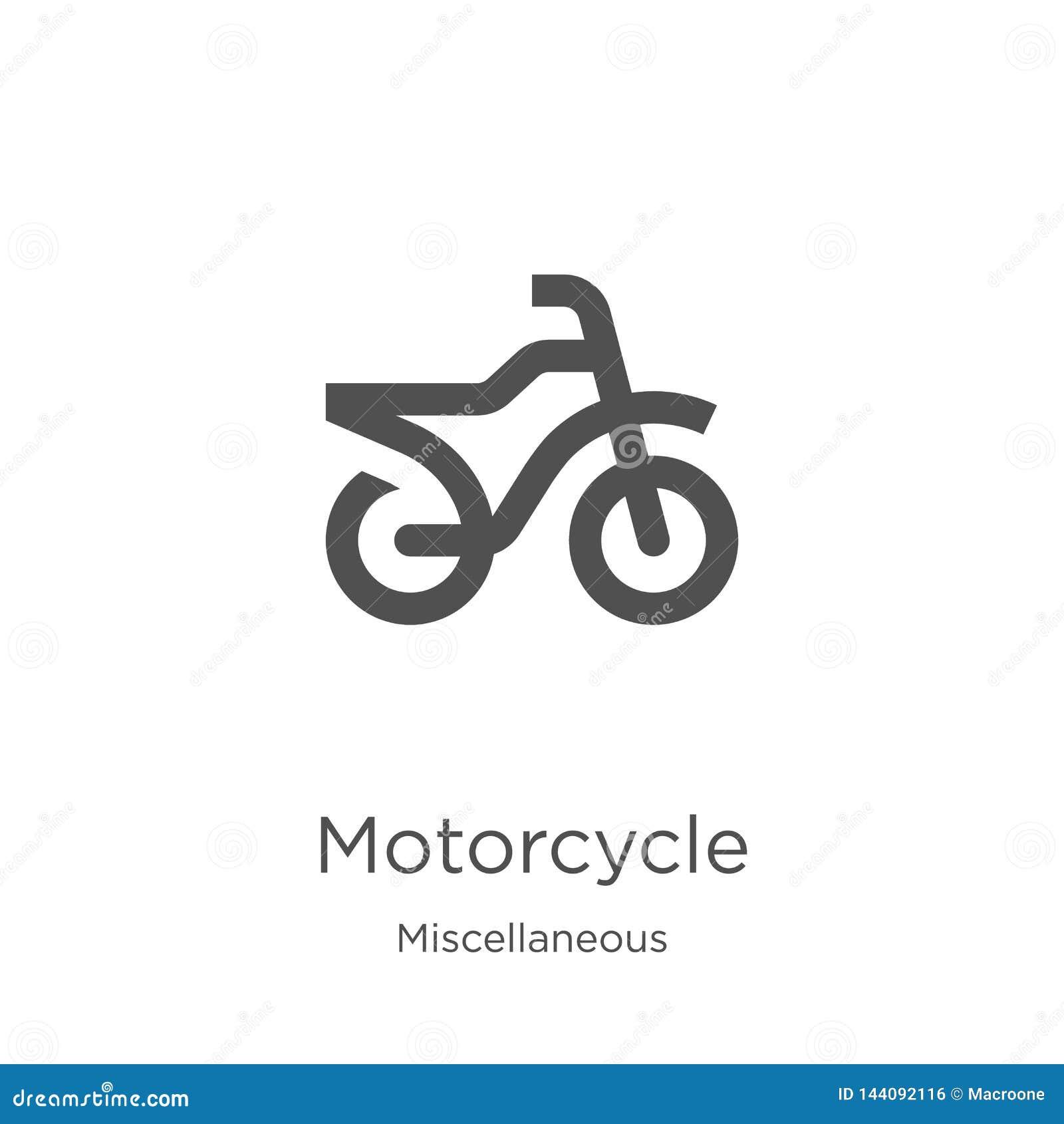 Vetor do ícone da motocicleta da coleção variada Linha fina ilustra??o do vetor do ?cone do esbo?o da motocicleta Esbo?o, linha f