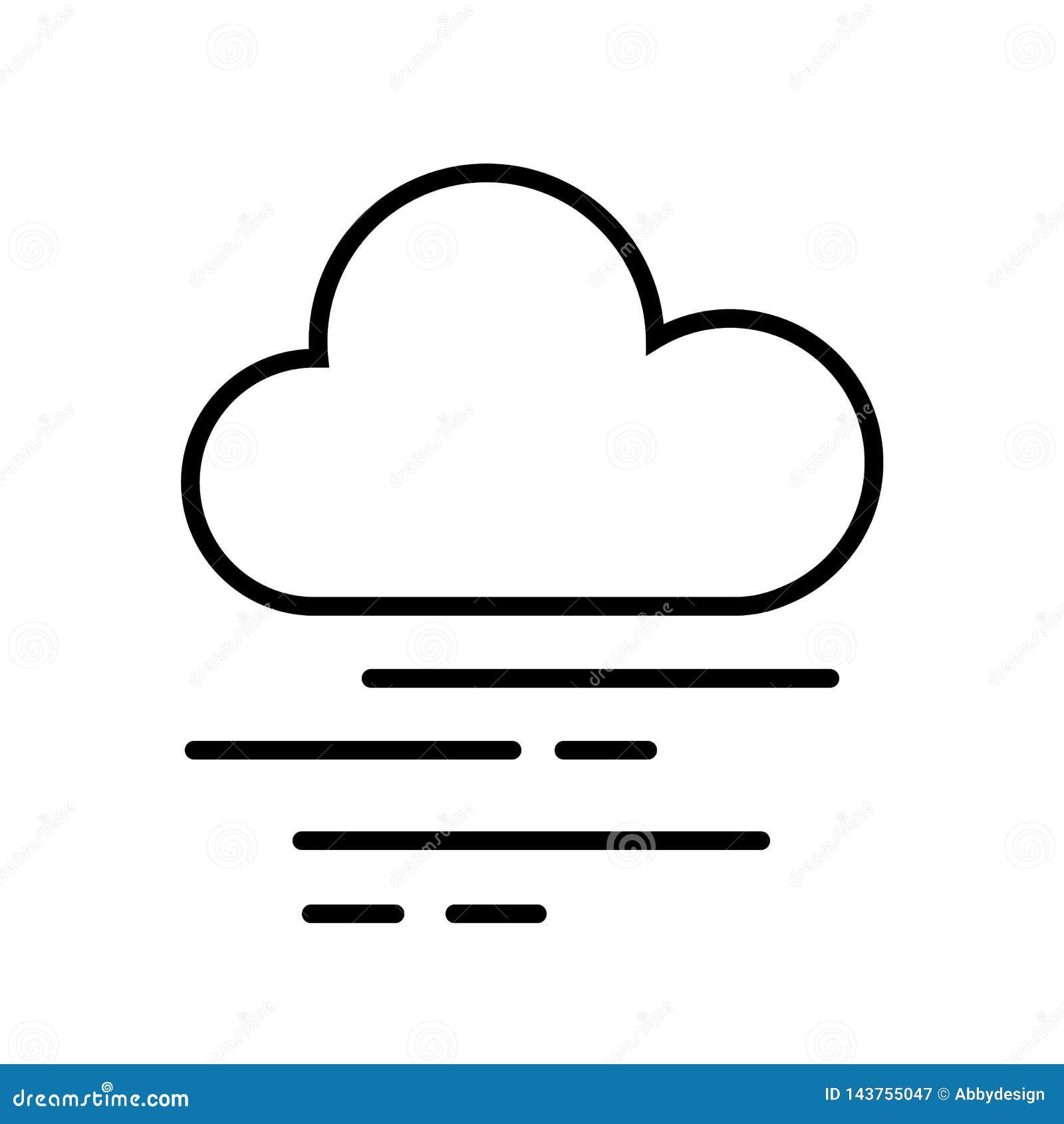 Vetor do ícone da nuvem e da névoa