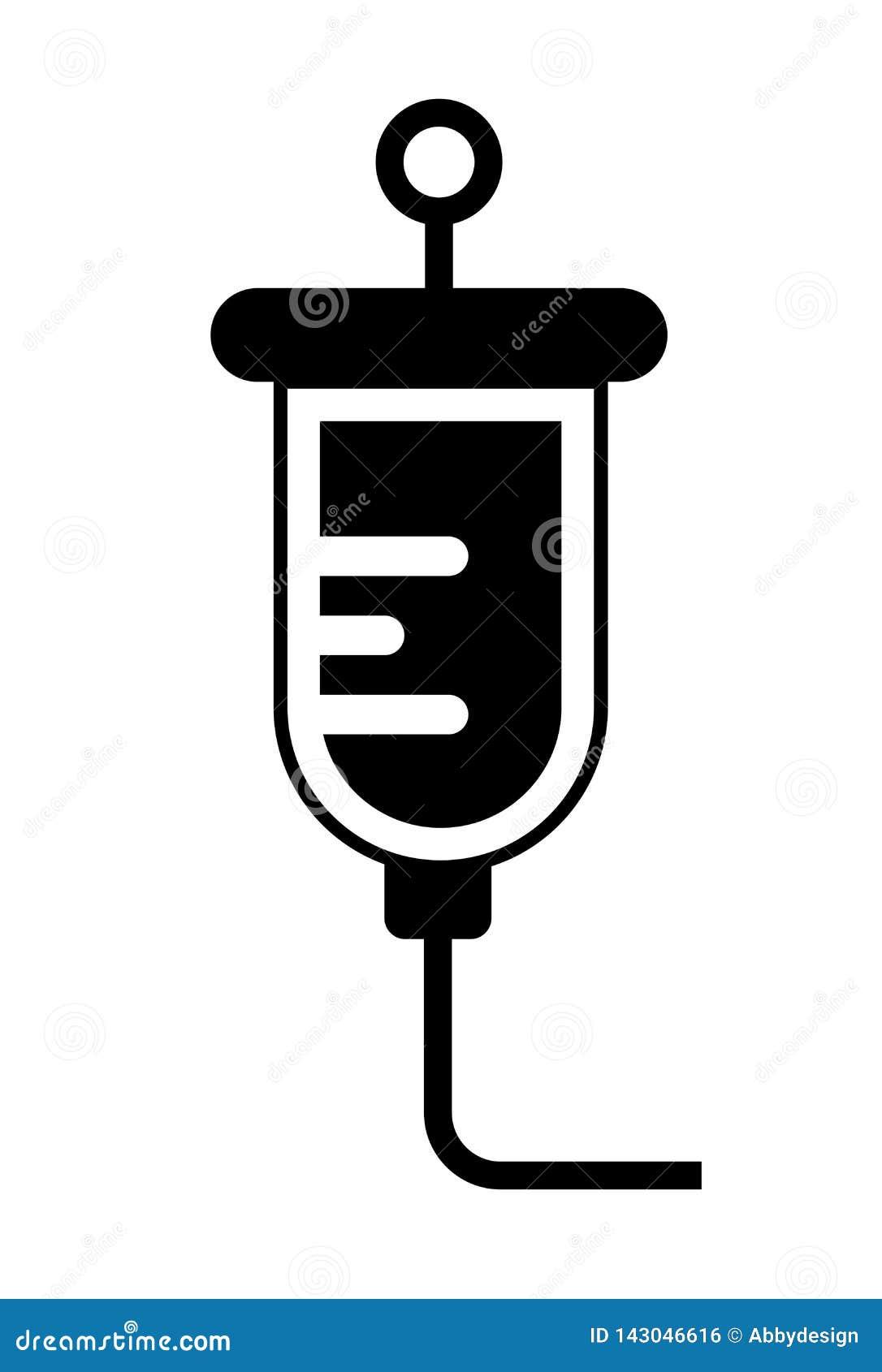 Vetor do ícone da solução salina