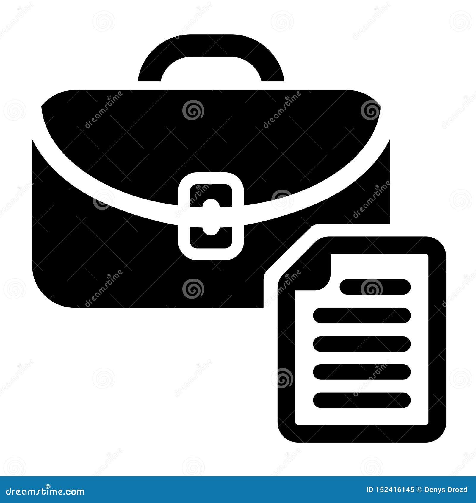 Vetor do ícone da vaga de trabalho da busca Símbolo da ilustração da carreira da lupa Logotipo do empregador dos povos do achado