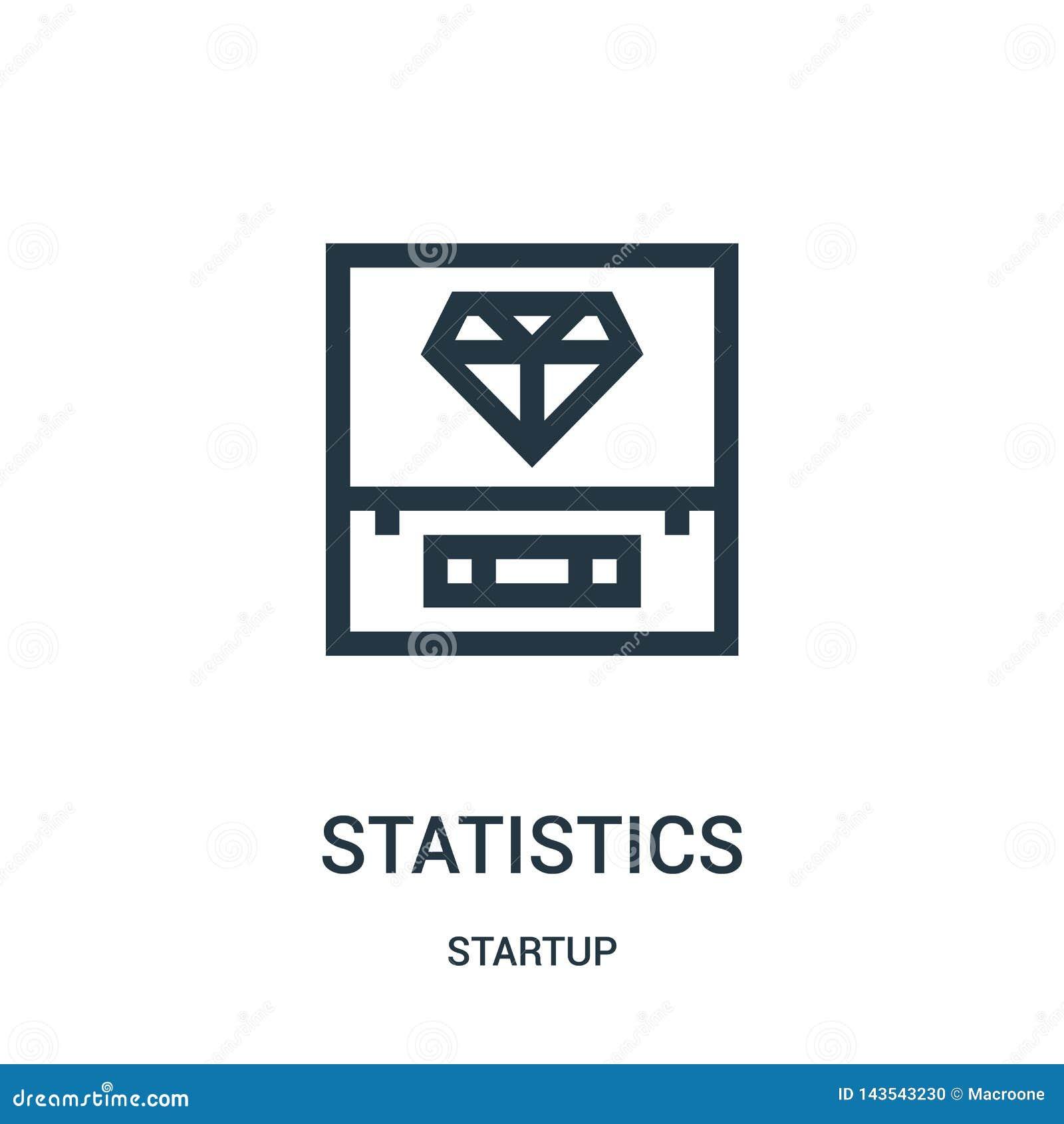 Vetor do ícone das estatísticas da coleção da partida Linha fina ilustra??o do vetor do ?cone do esbo?o das estat?sticas