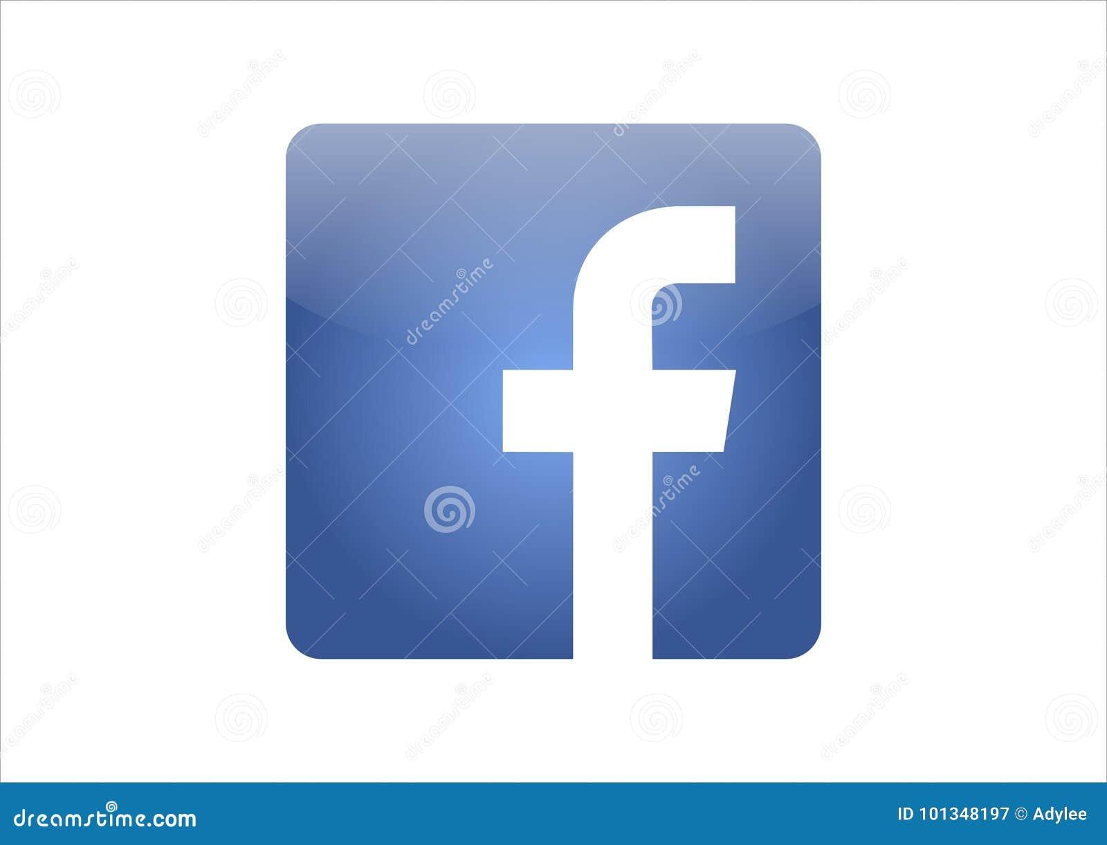 Vetor do ícone de Facebook