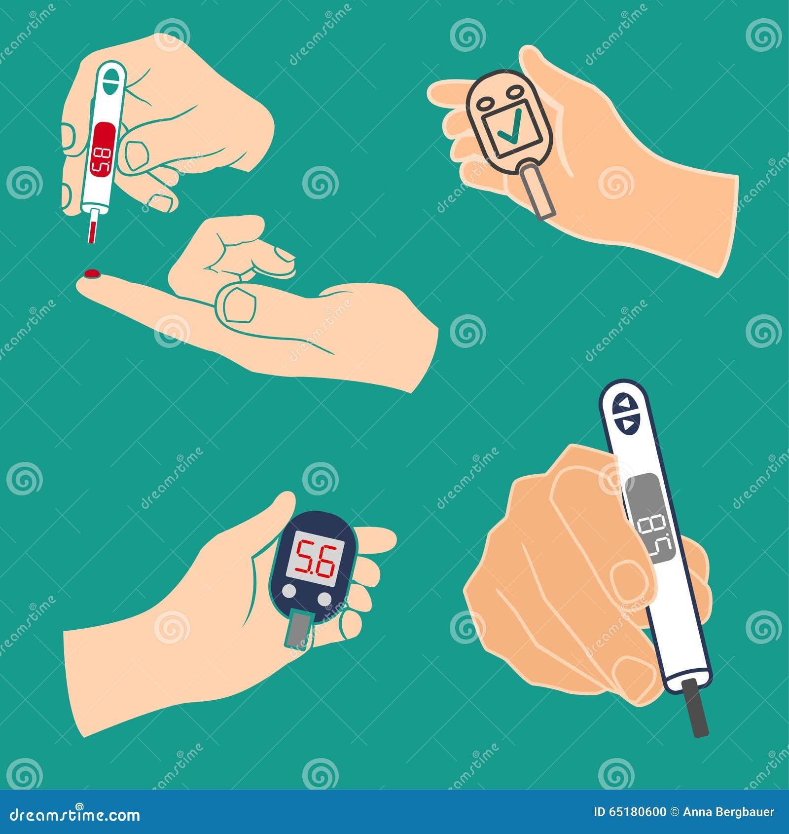 Vetor do ícone do diabetes