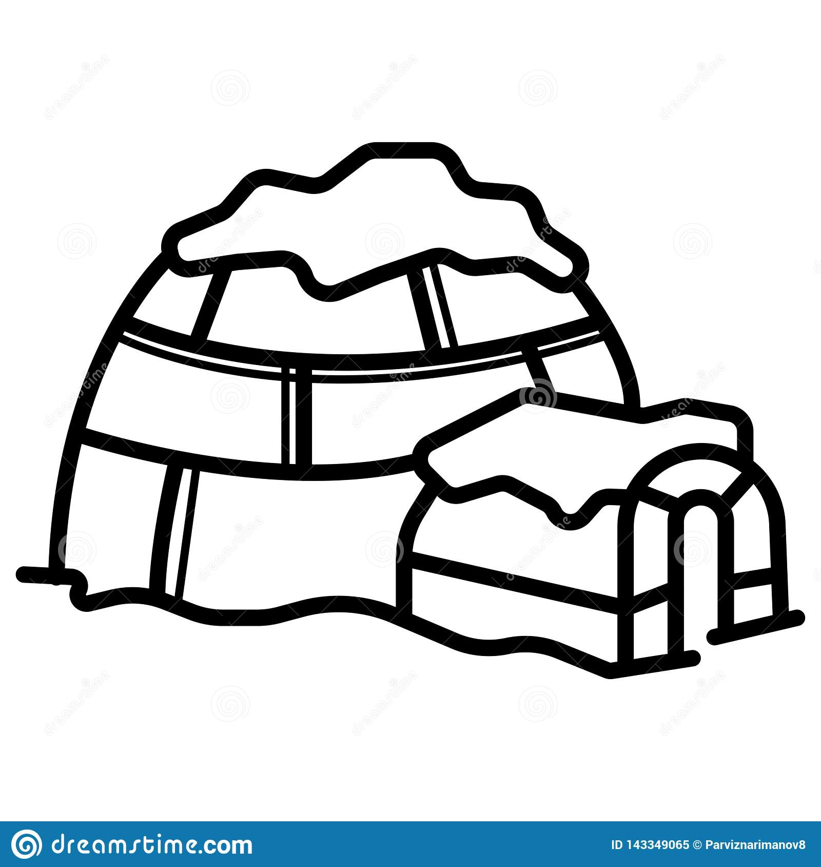 Vetor do ícone do iglu