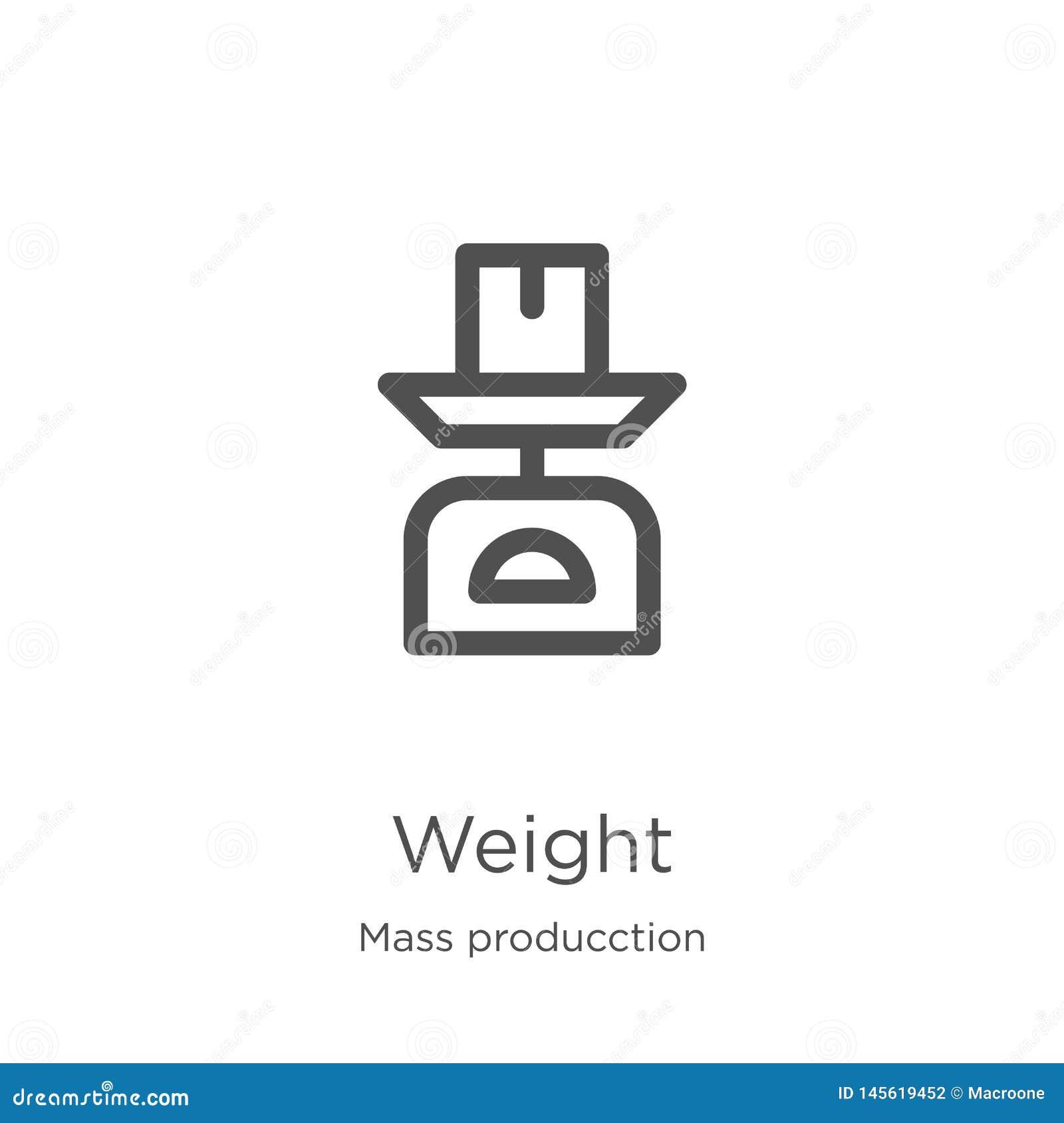 Vetor do ícone do peso da coleção maciça do producction Linha fina ilustra??o do vetor do ?cone do esbo?o do peso Esboço, linha p