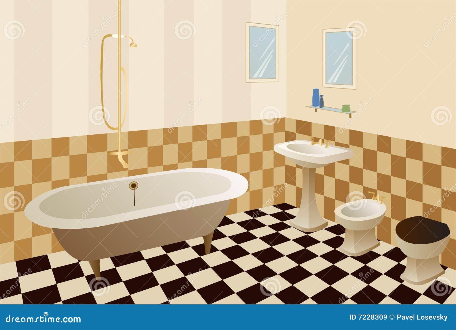 Vetor Do Banheiro Imagens de Stock Royalty Free  Imagem 7228309 -> Banheiro Feminino Vetor Free