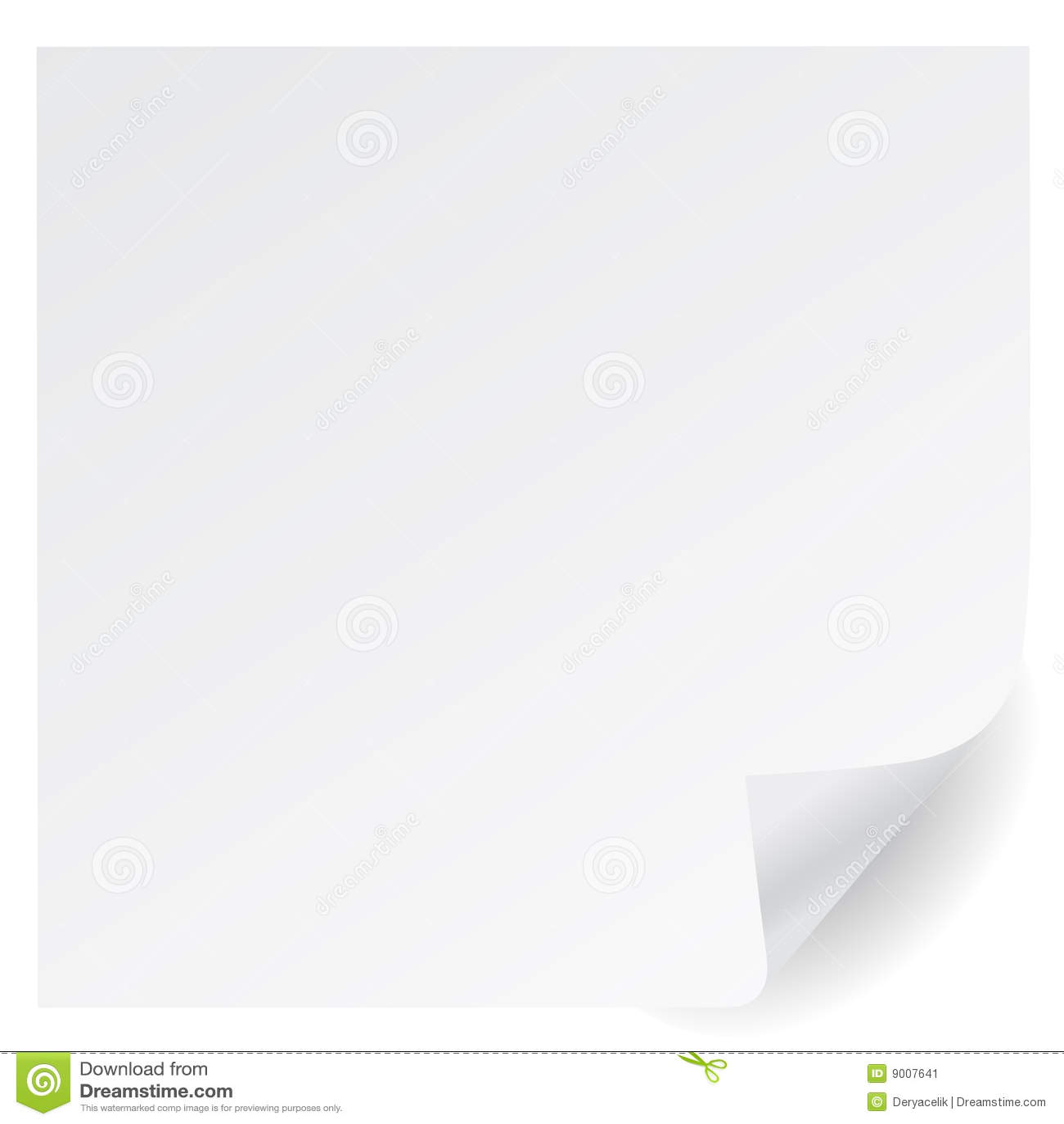 Vetor do canto da página branca