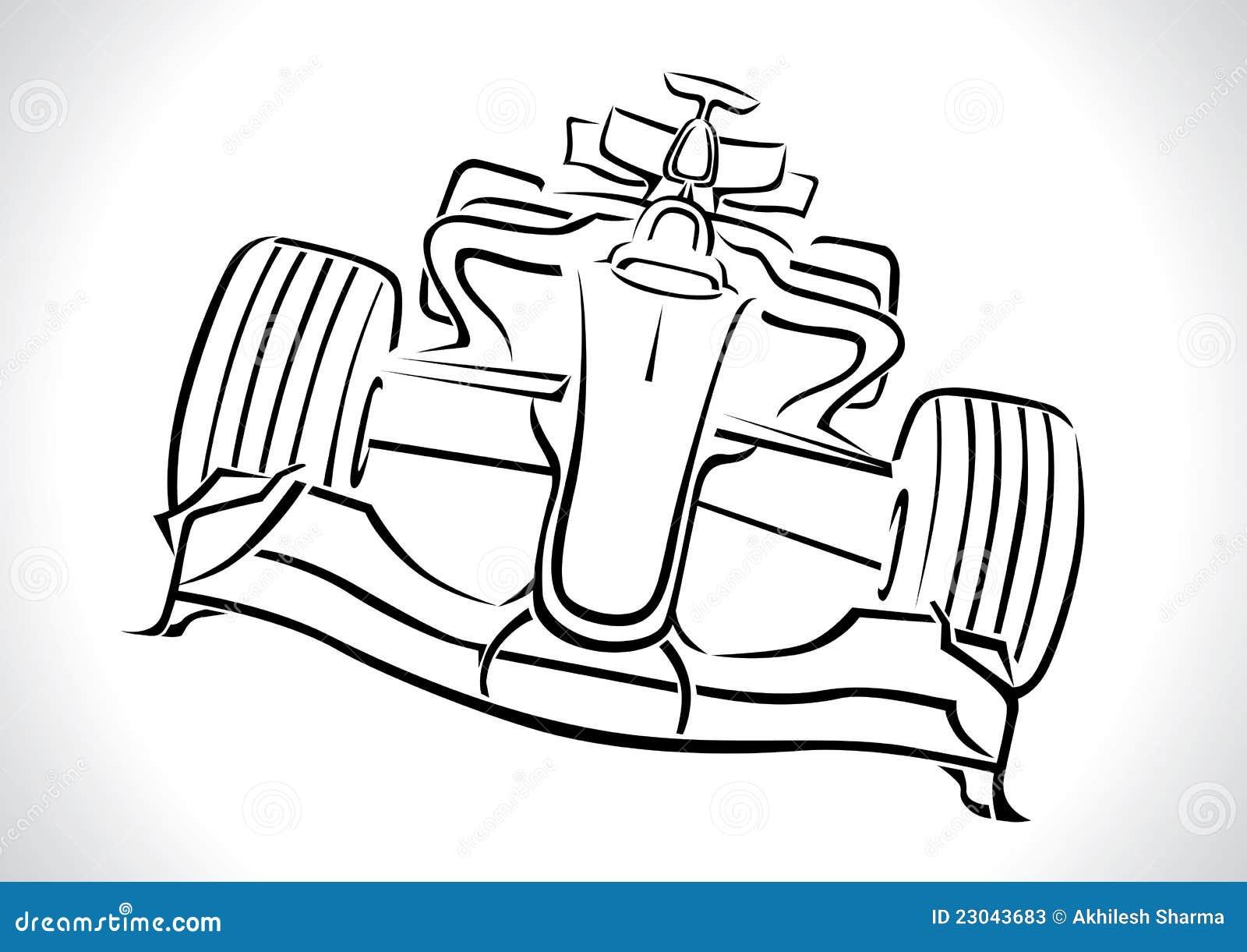 Vetor do carro de competência da fórmula 1