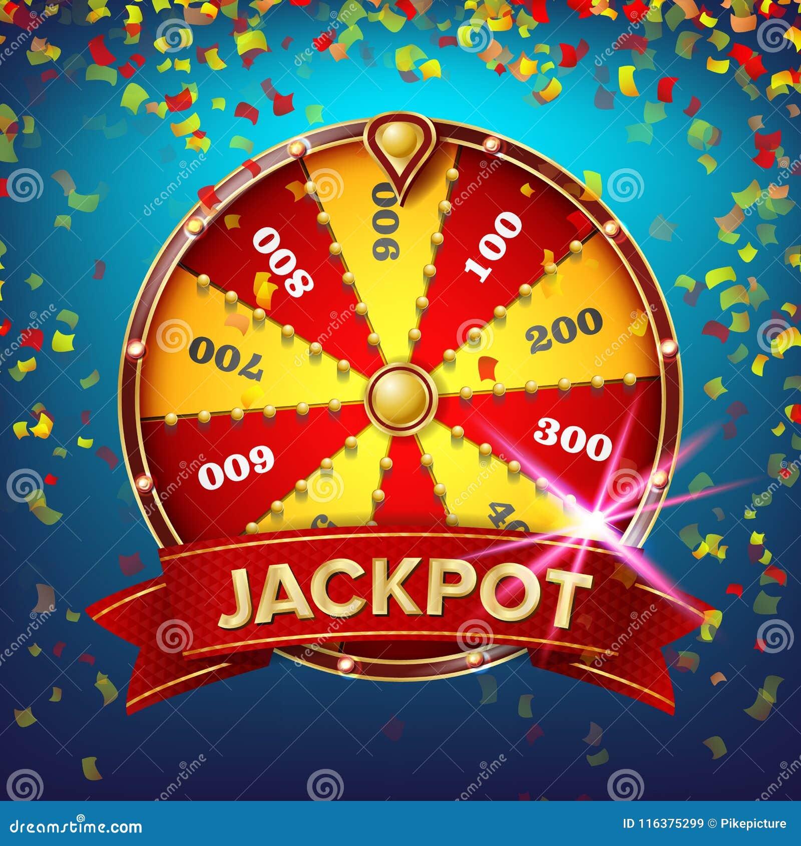 Vetor do cartaz da roda da fortuna Lazer da possibilidade do jogo Objeto 3d realístico Folheto do projeto da loteria Ilustração