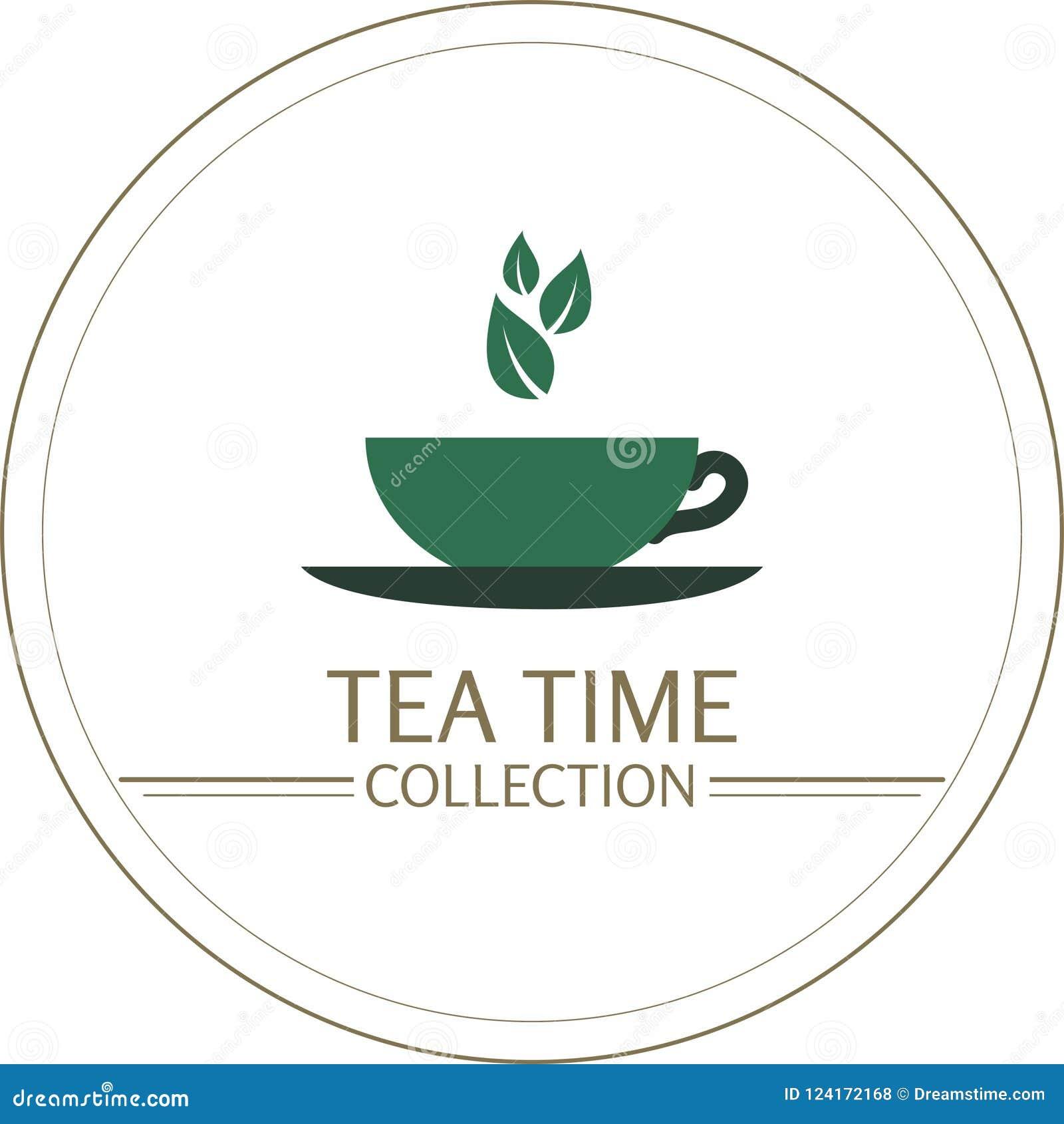 Vetor do chá, aroma, pétalas