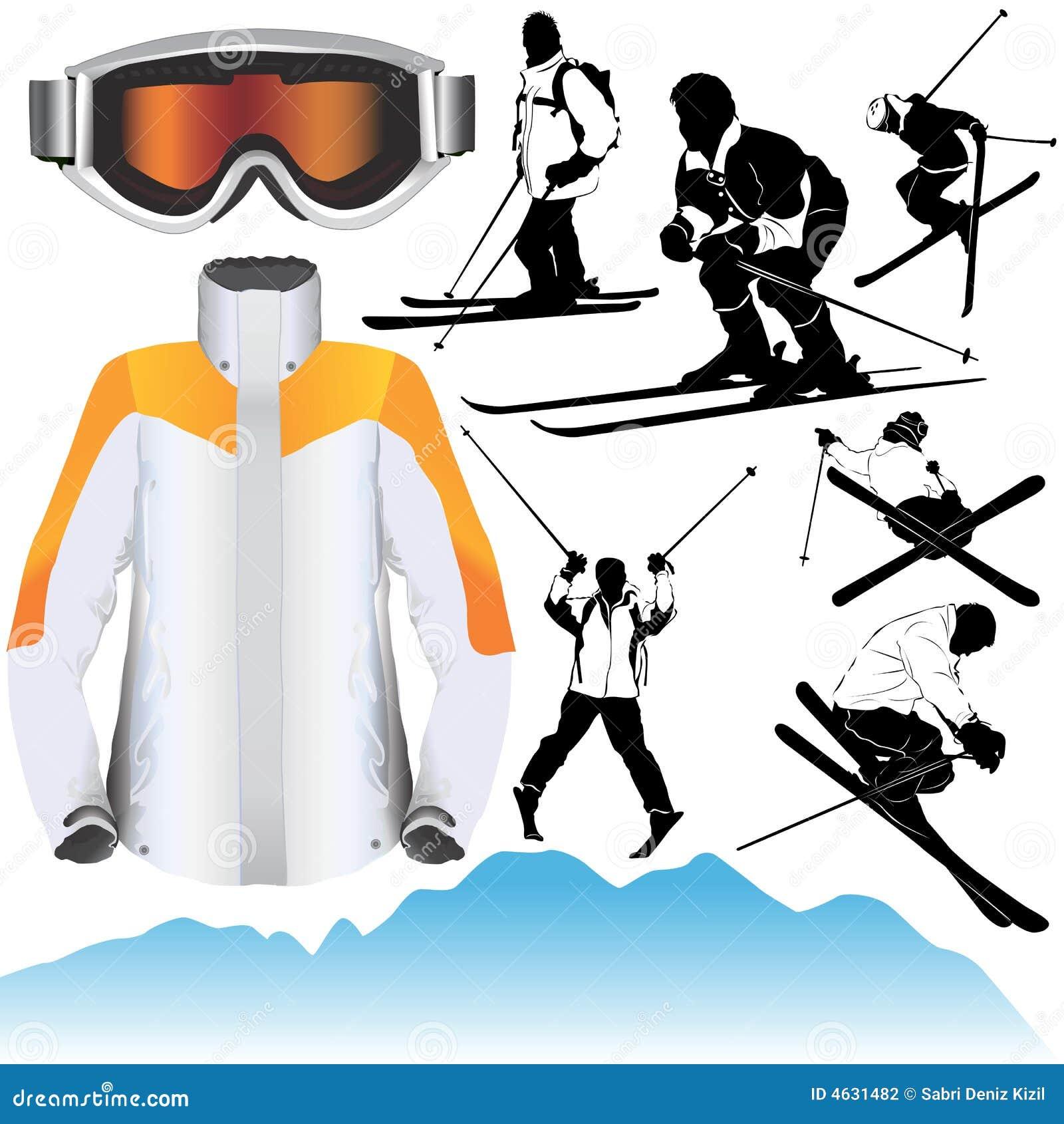 Vetor do esqui