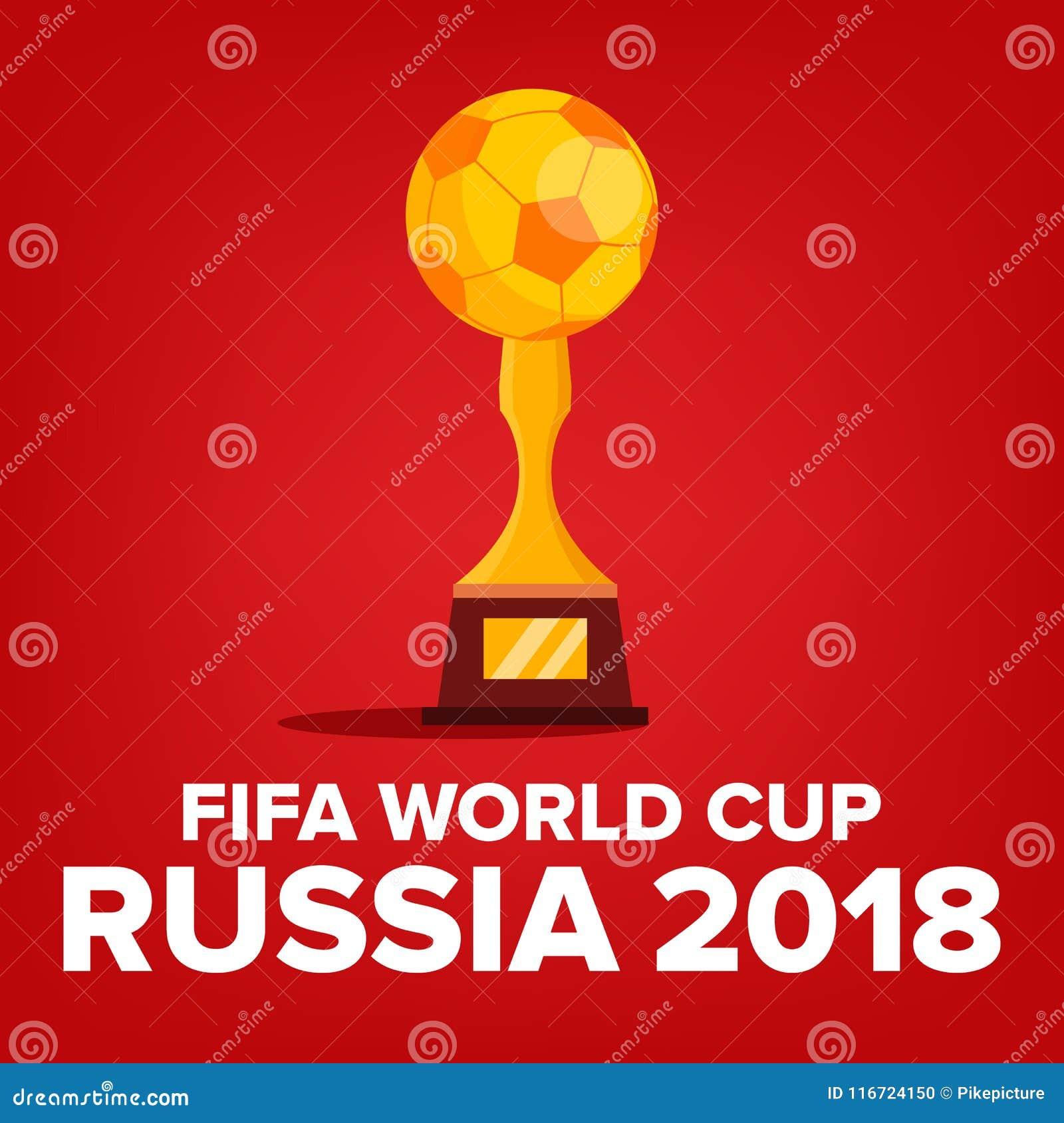 Vetor 2018 do fundo do campeonato do mundo de FIFA Evento de Rússia Fundo do campeonato do mundo Competição do fósforo Campeonato