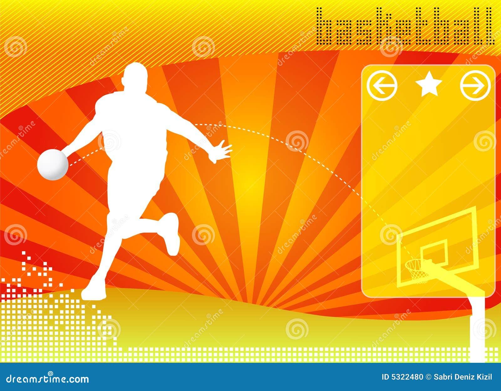 Vetor do fundo do conceito do basquetebol