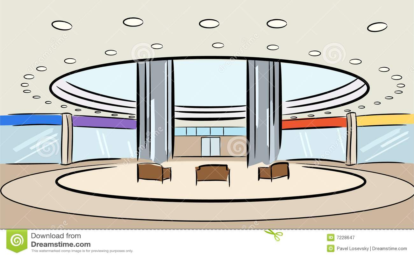 Vetor do interior da loja do mercado