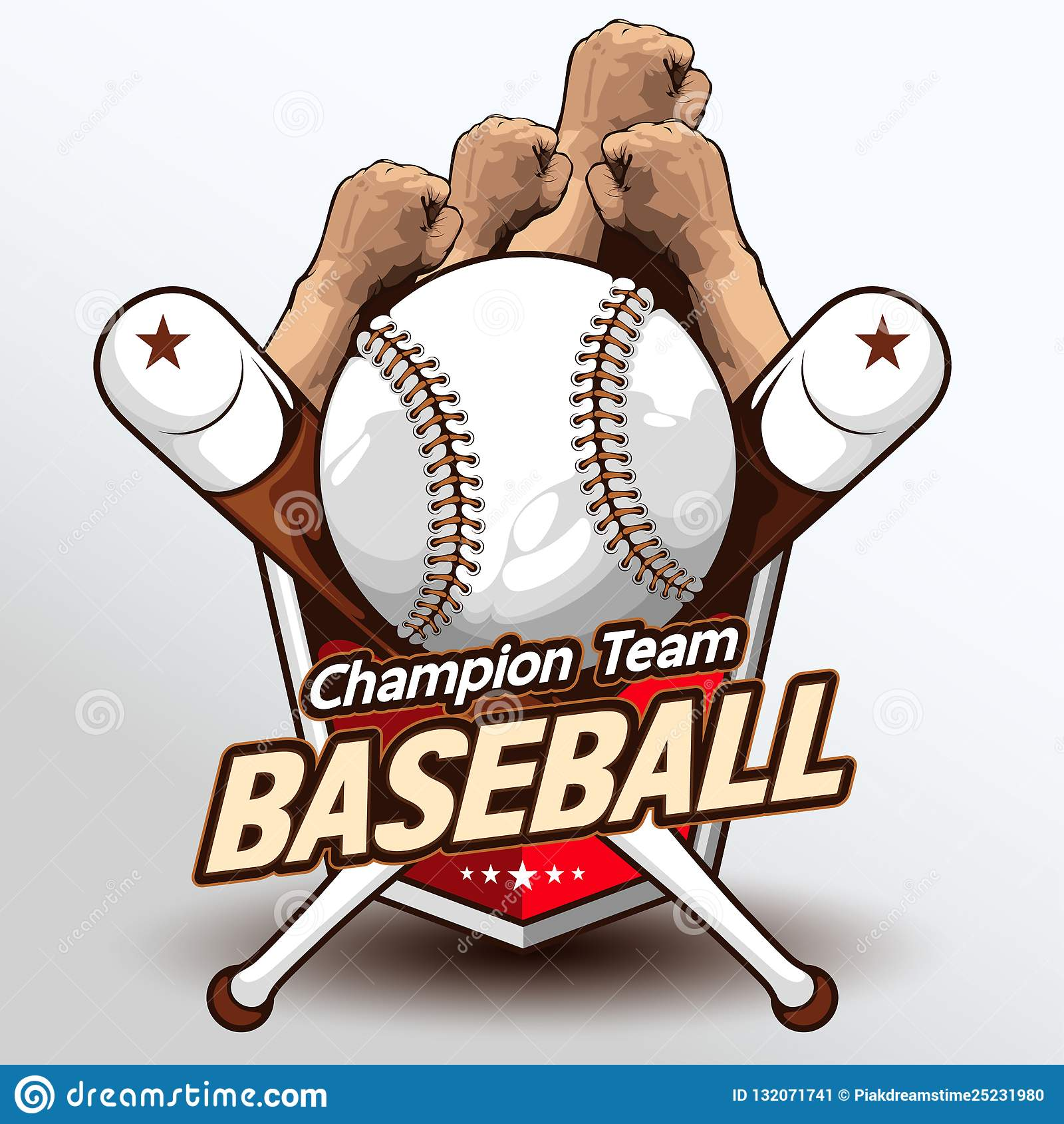 Vetor 223 do logotipo do basebol