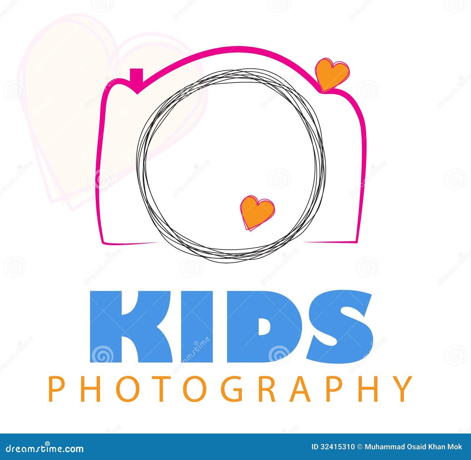 Vetor do logotipo da câmera.