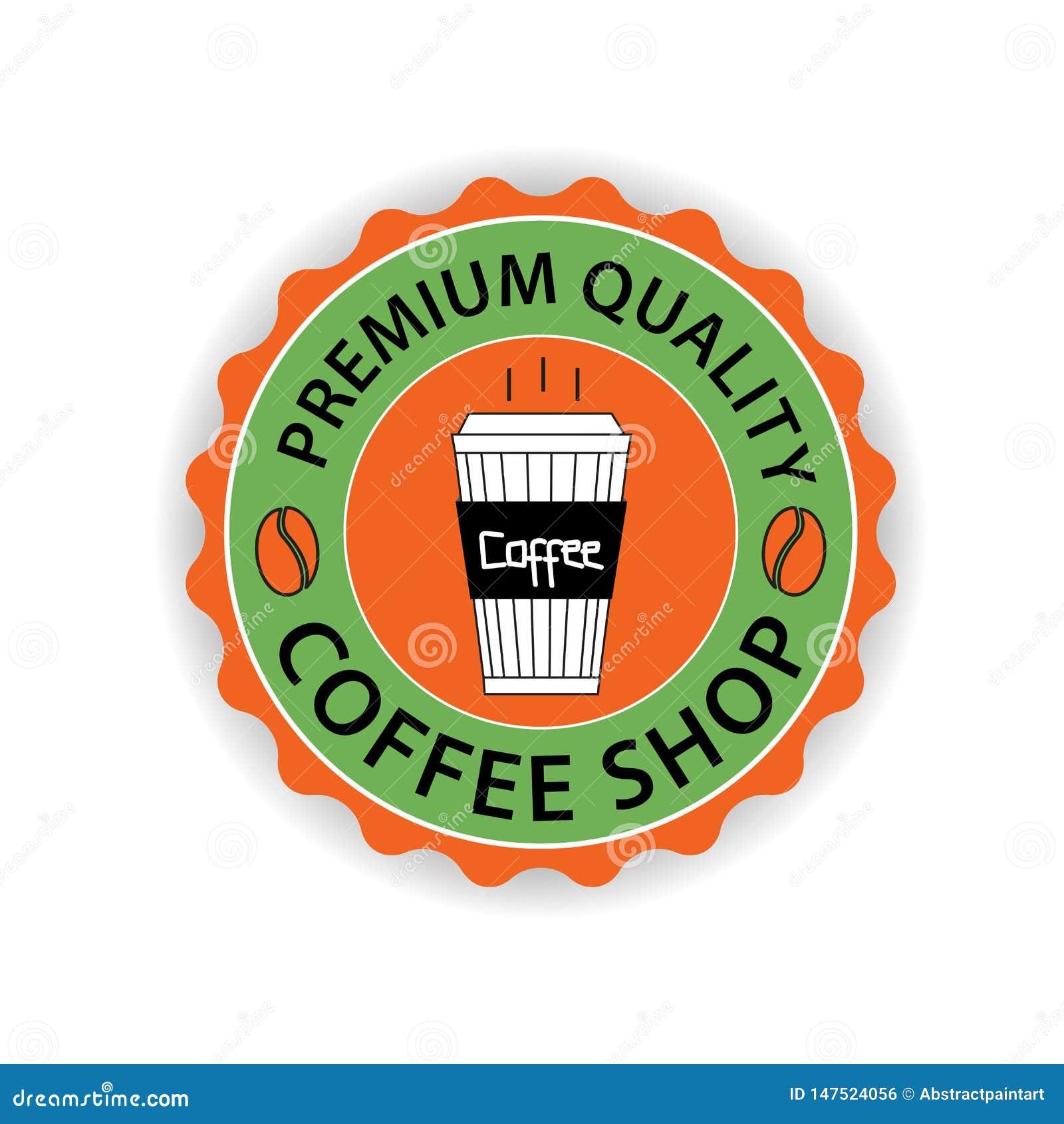 Vetor do logotipo da cafetaria, projeto do ícone do copo de café, ícone da Web