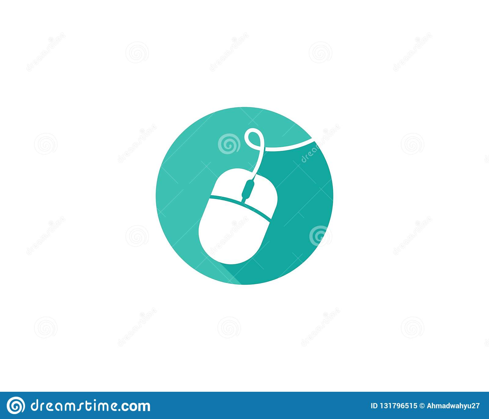 Vetor do logotipo do rato do computador