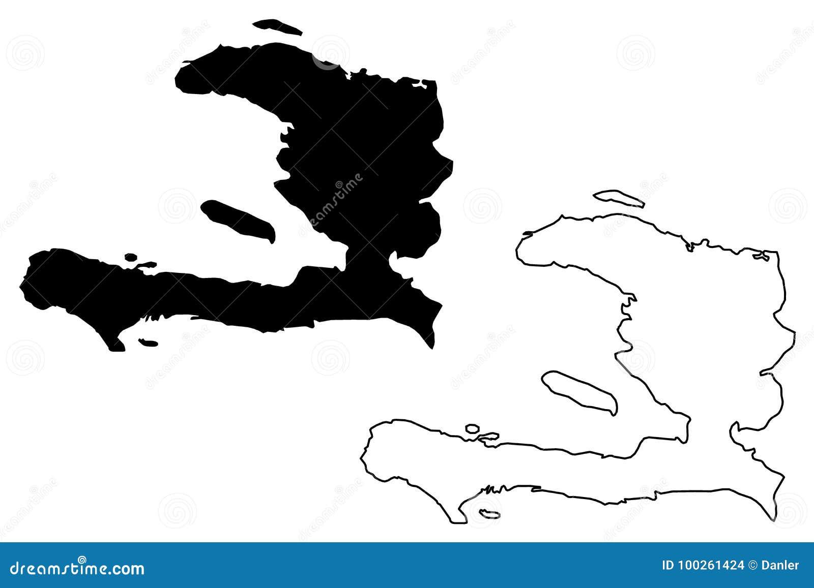 Vetor do mapa de Haiti