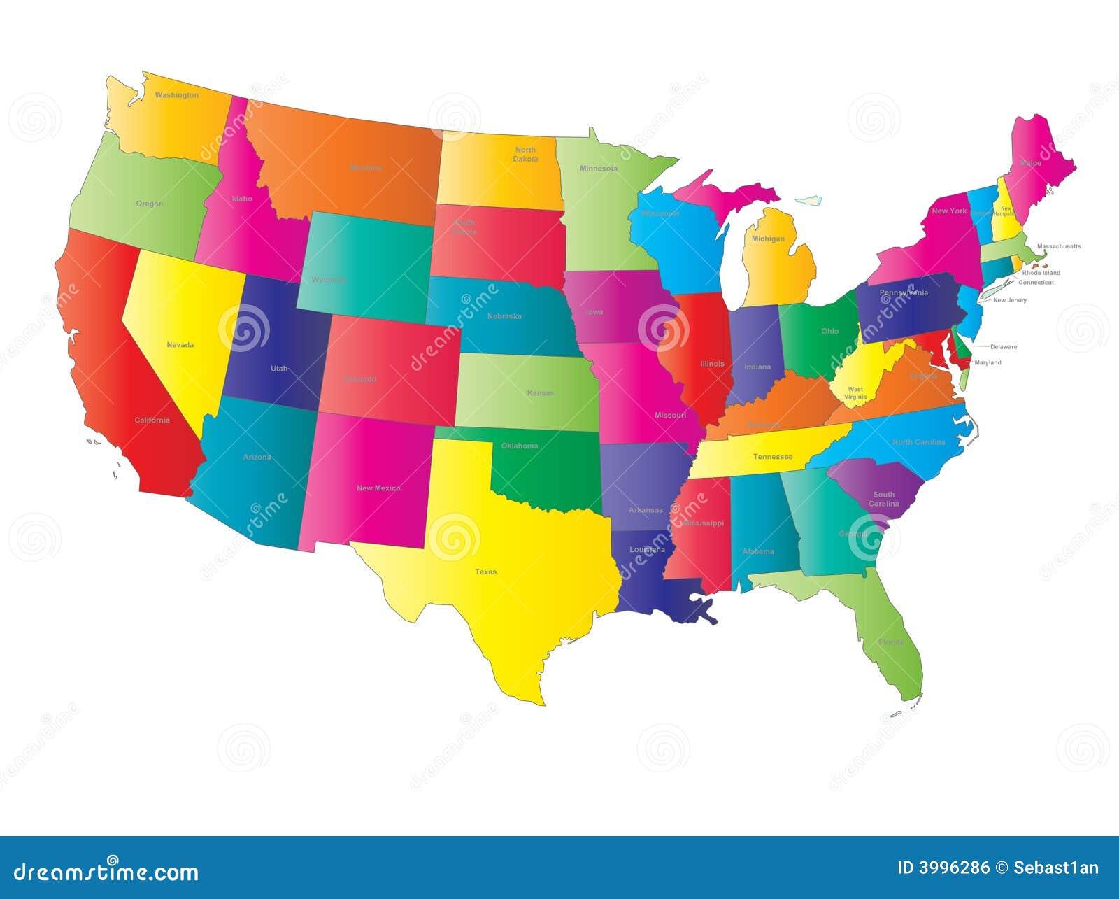 Vetor do mapa dos EUA