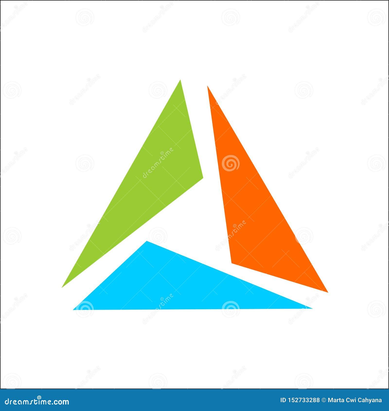 Vetor do molde do sumário do logotipo do triângulo