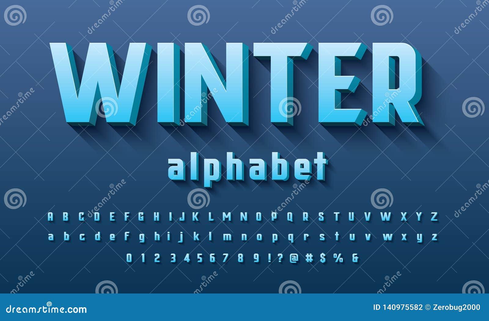 Vetor do projeto corajoso moderno do alfabeto 3D