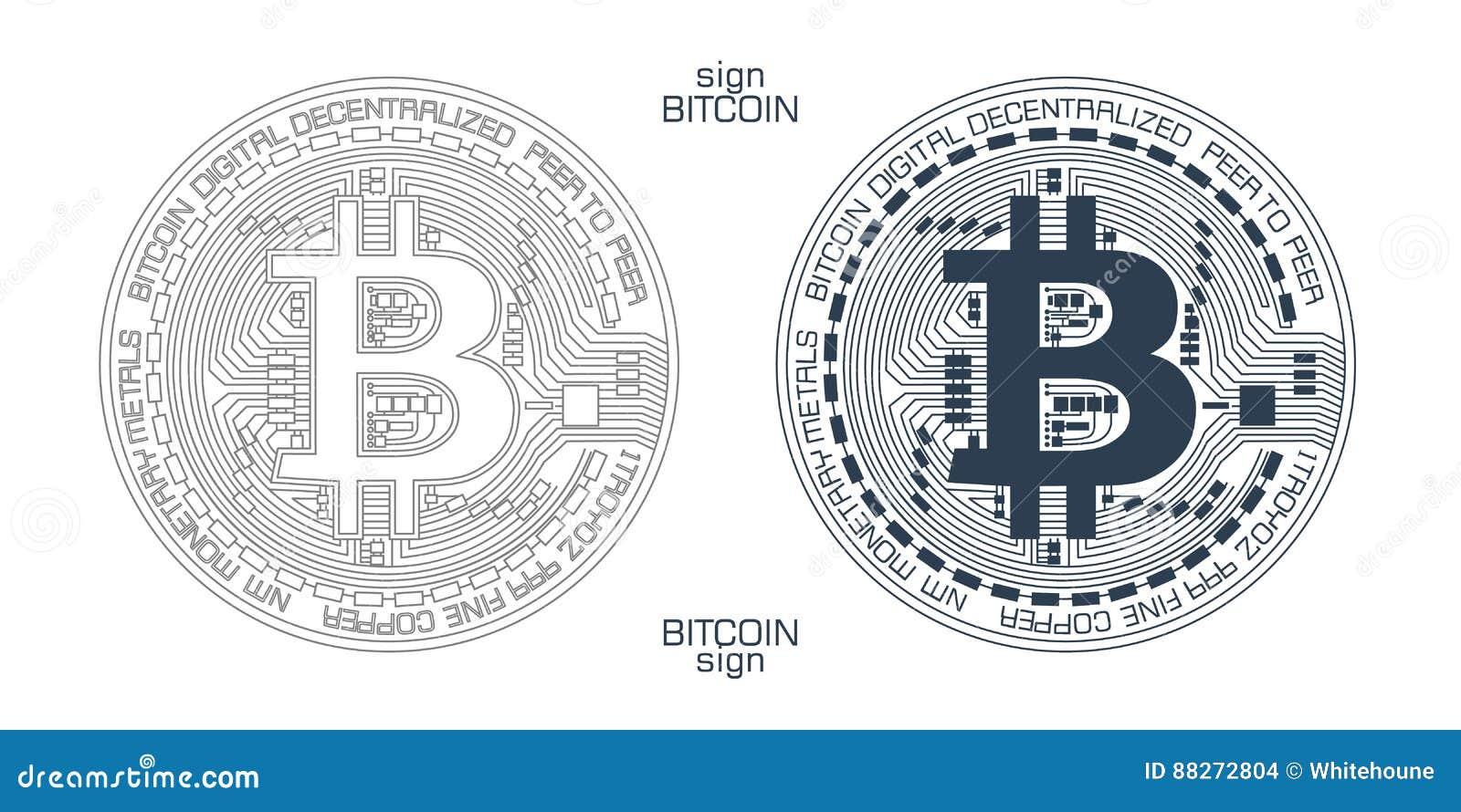 Vetor do sinal de Bitcoin