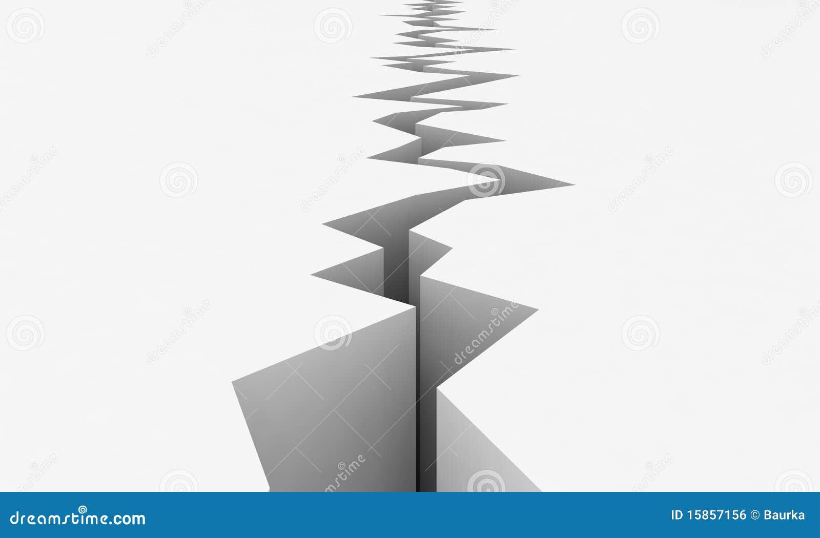 Vetor do terremoto