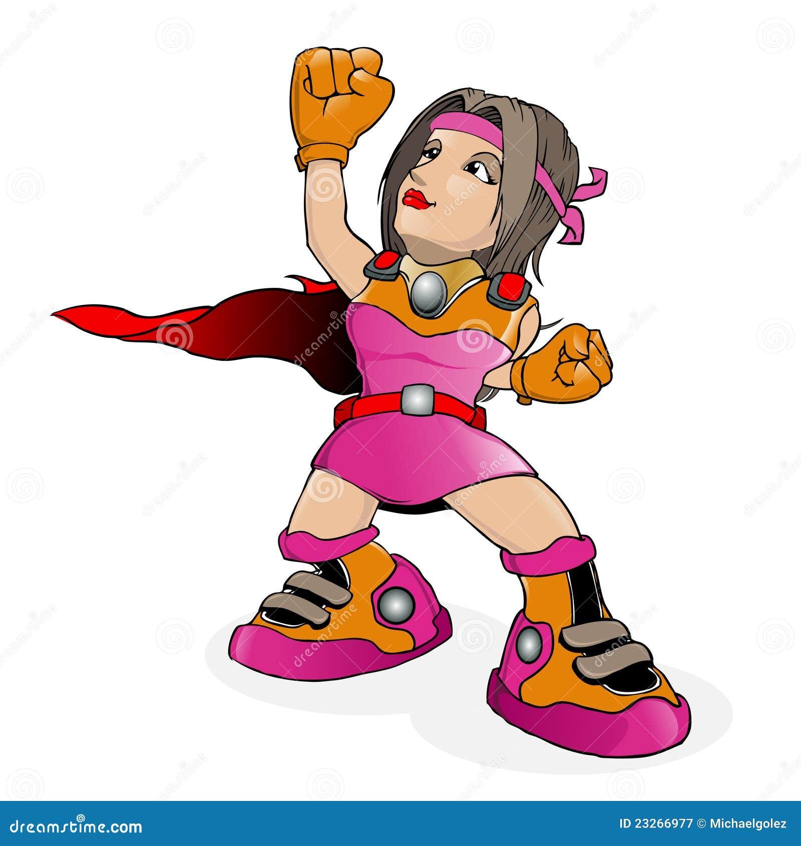 Vetor dos desenhos animados do super-herói