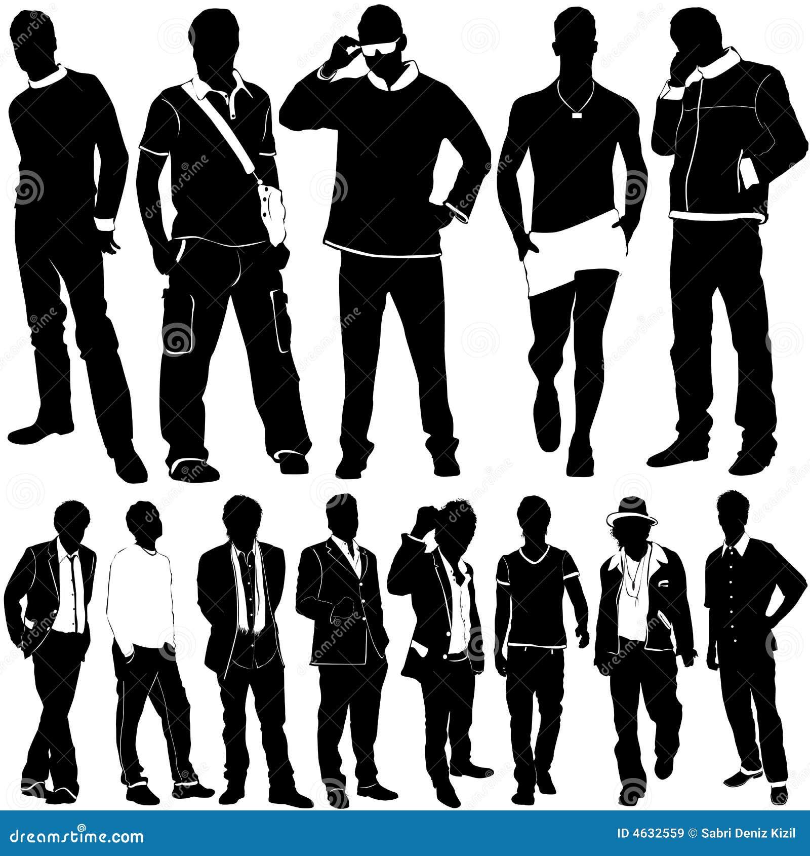 Vetor dos homens da forma