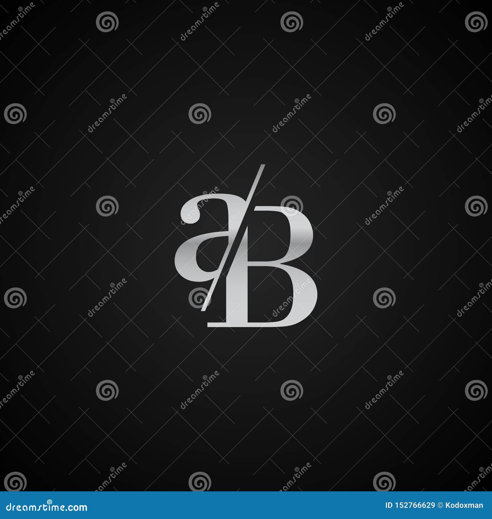 Vetor elegante original moderno do molde do logotipo da letra inicial do AB criativo