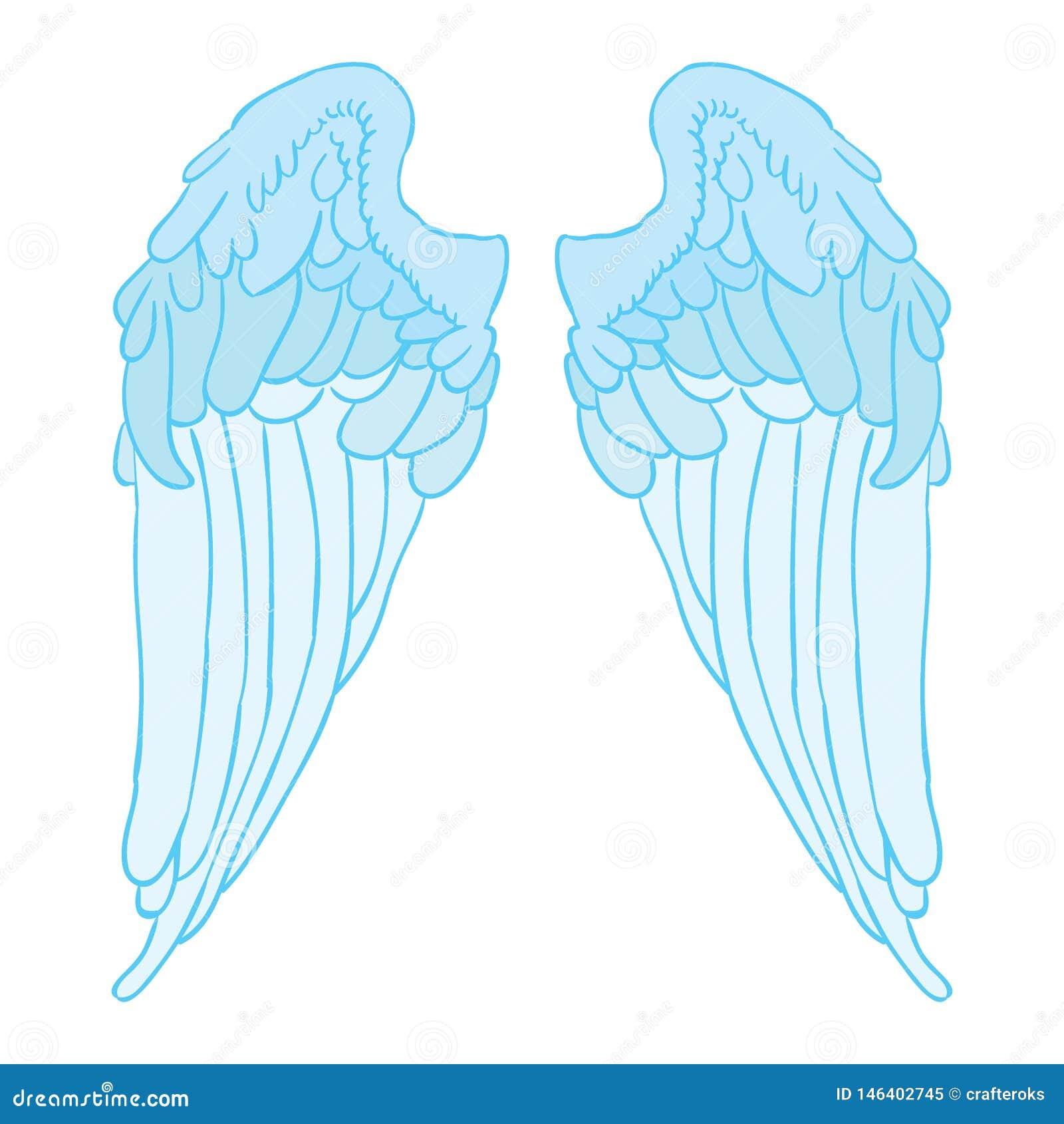 Vetor eps da asa do anjo por oks do crafter