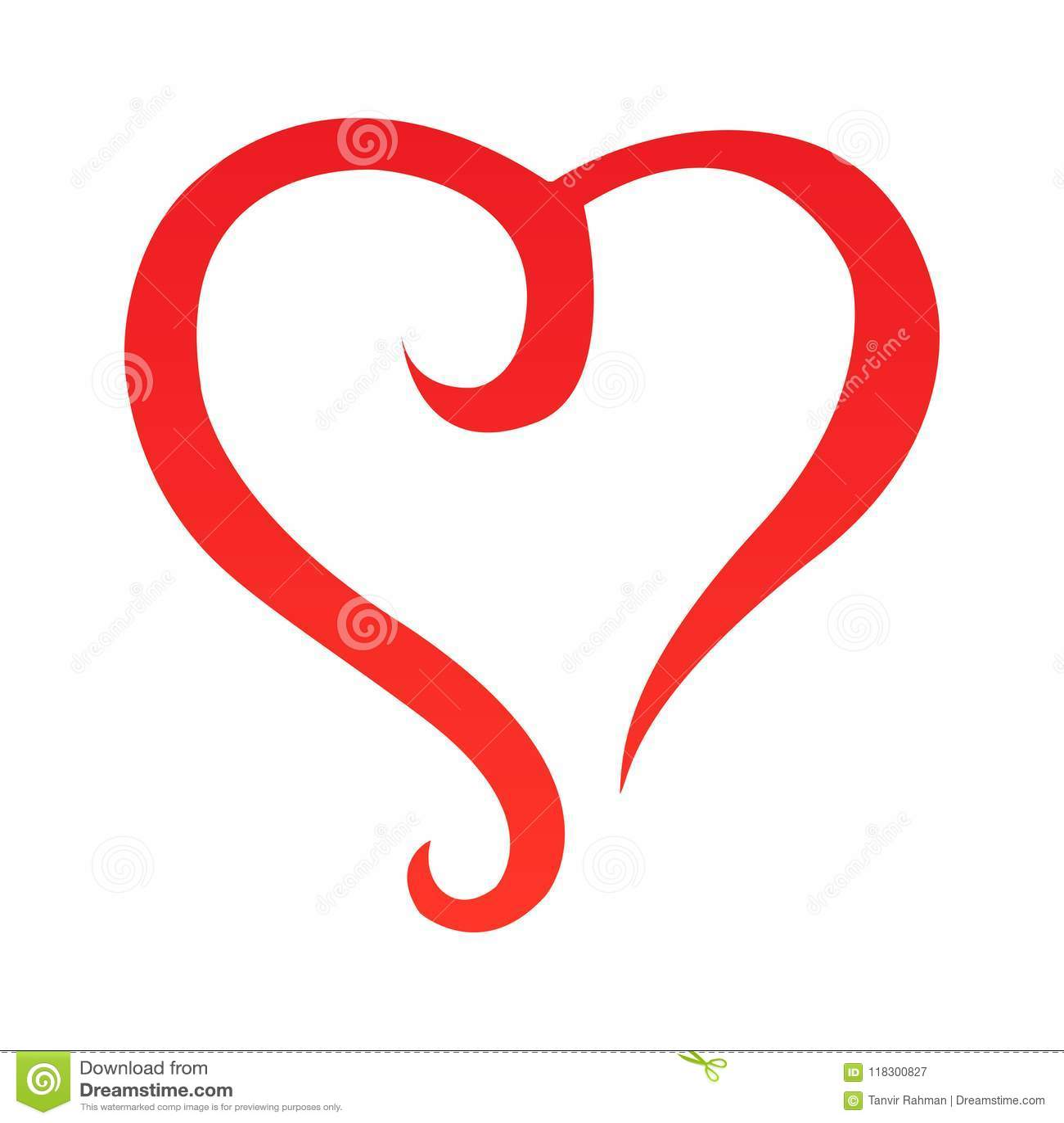 Vetor - esboço abstrato da forma do coração Projeto original