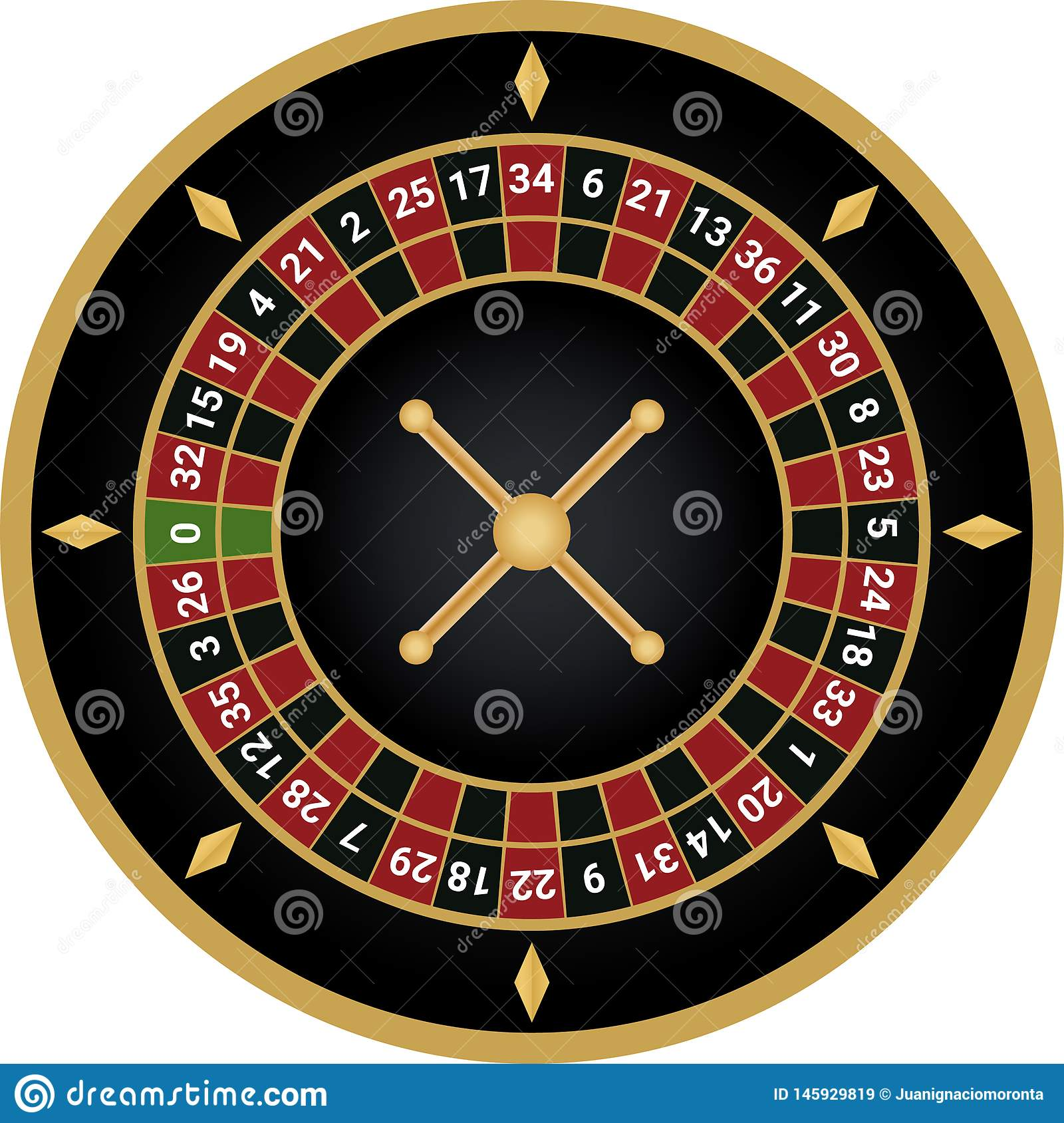 Vetor europeu da roleta do casino