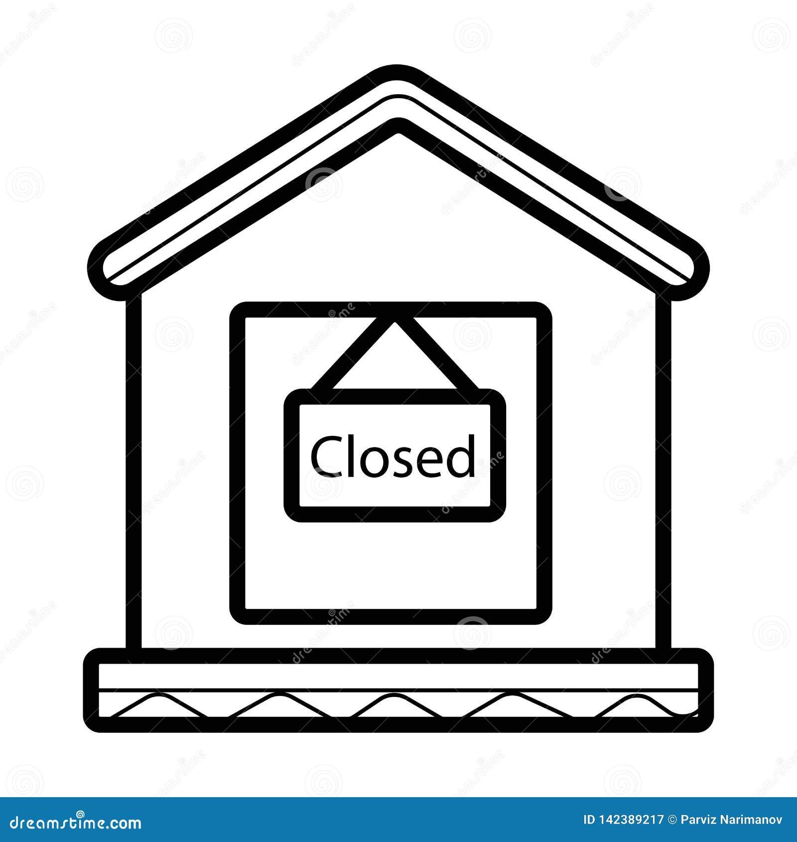 Vetor fechado da loja
