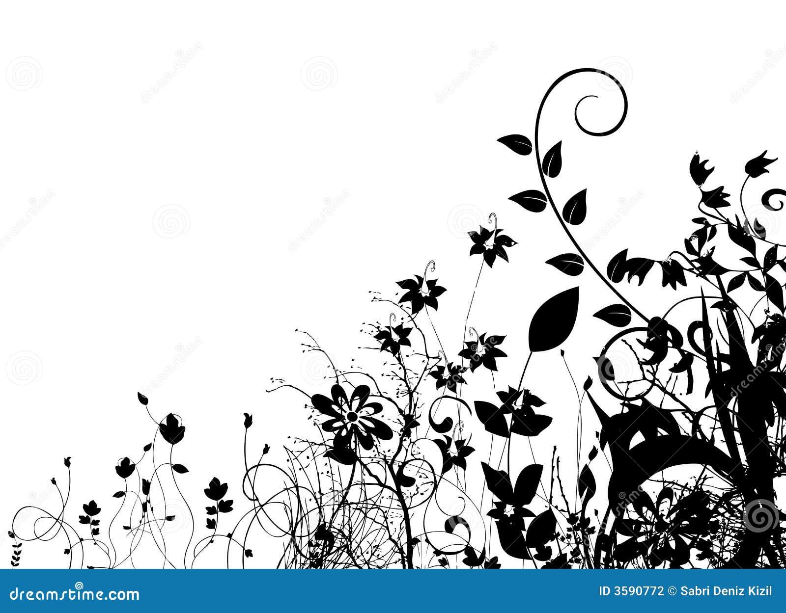 Vetor floral abstrato