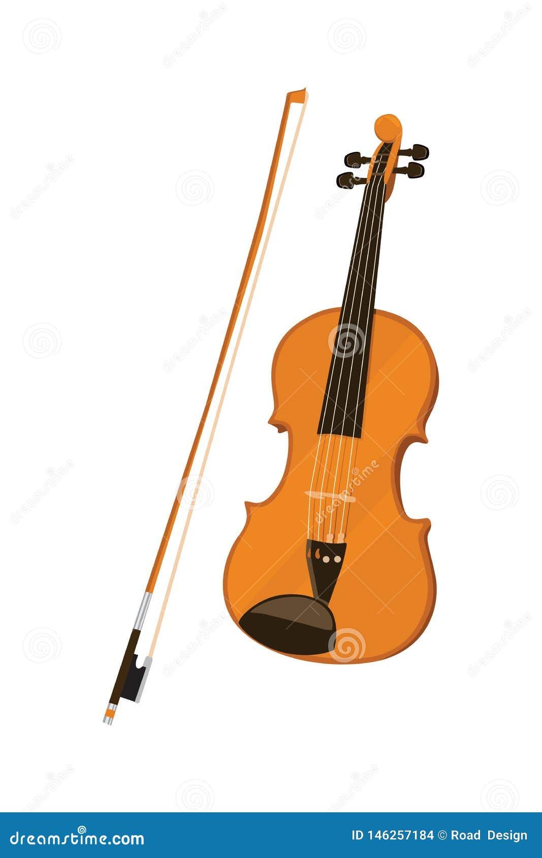 Vetor Illusrtration do instrumento do violino