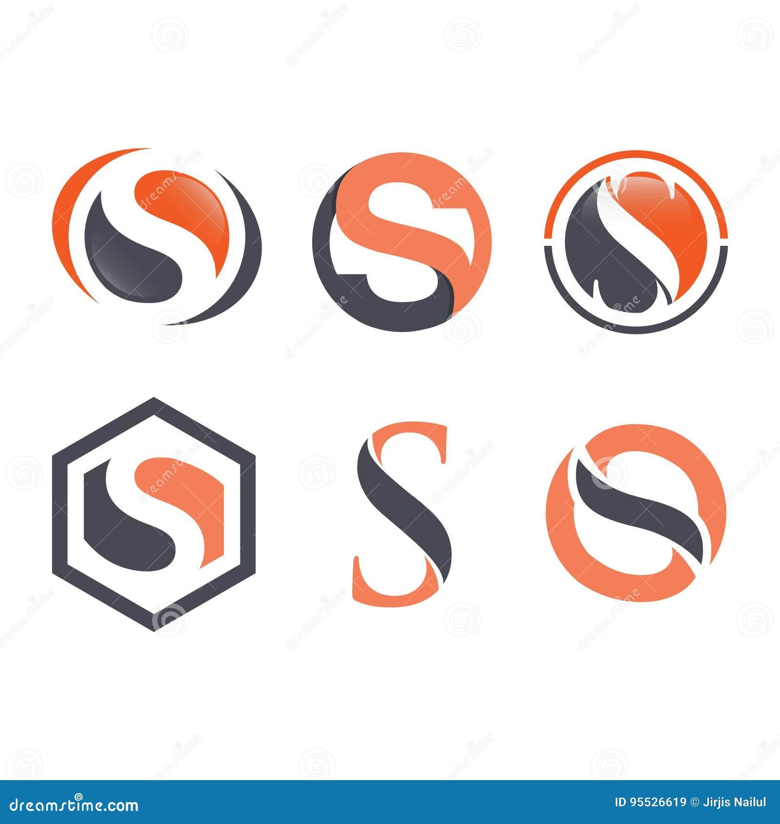 Vetor incorporado do projeto do logotipo da letra S do negócio