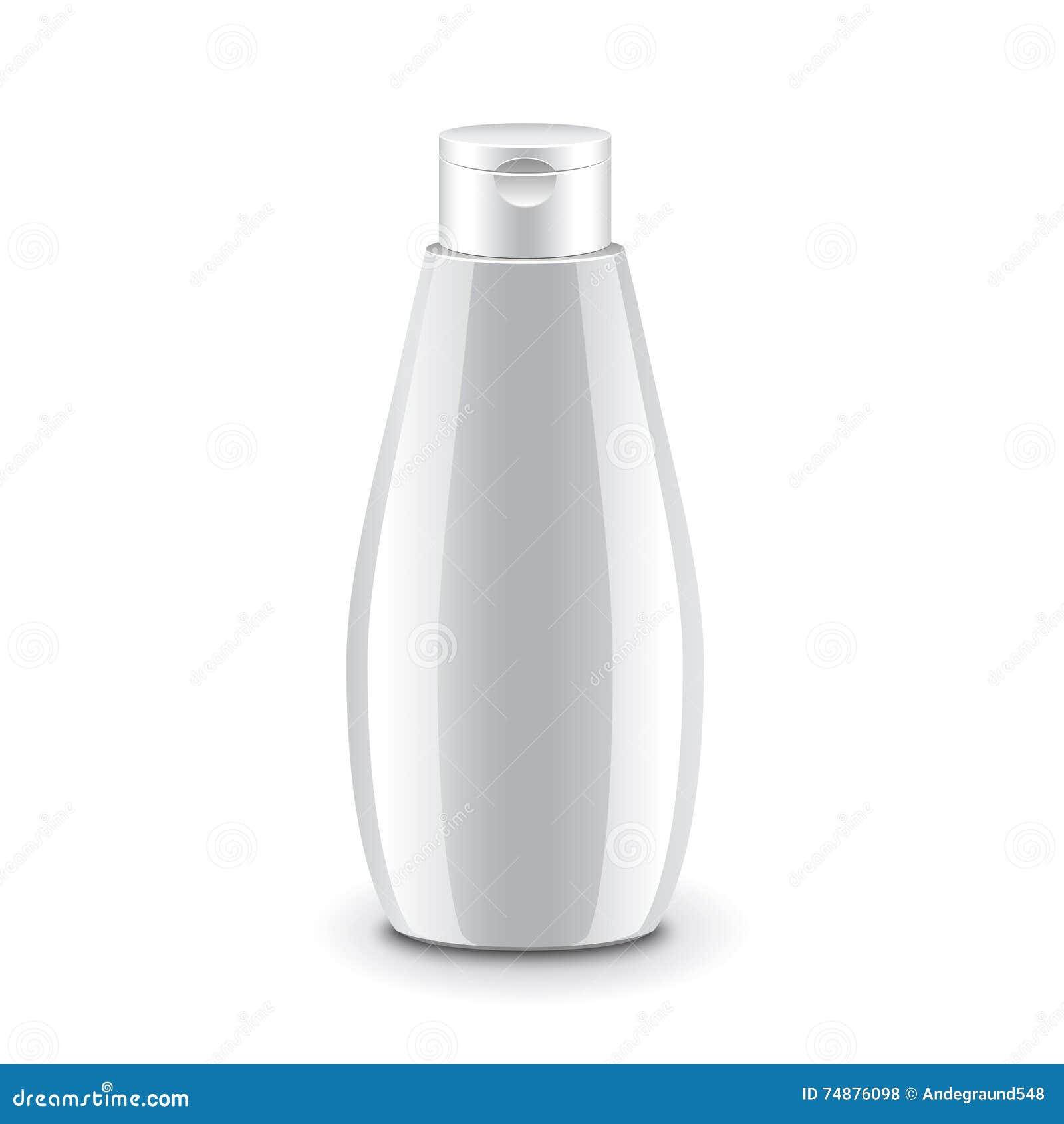 Vetor isolado do champô garrafa plástica cosmética